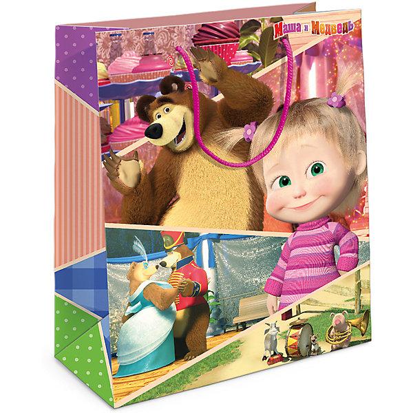 Пакет подарочный Маша и Миша 230*180*100, Маша и МедведьДетские подарочные пакеты<br>Характеристики товара:<br><br>• размер: 23х18х10 см<br>• состав: бумага<br>• яркий принт<br>• удобные ручки<br>• страна бренда: Россия<br>• страна изготовитель: Китай<br><br>Подарочный бумажный пакет с очаровательными героями мультфильма «Маша и Медведь» ярко украсит ваш подарок и обязательно порадует малыша.<br><br>Пакет подарочный Маша и Миша 230*180*100, Маша и Медведь, вы можете приобрести в нашем интернет-магазине.<br><br>Ширина мм: 230<br>Глубина мм: 180<br>Высота мм: 30<br>Вес г: 40<br>Возраст от месяцев: 36<br>Возраст до месяцев: 2147483647<br>Пол: Женский<br>Возраст: Детский<br>SKU: 5453491