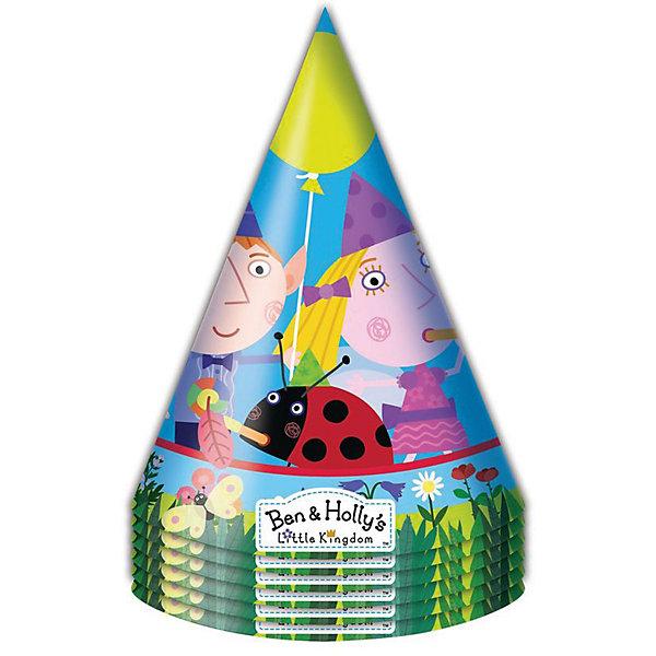 Колпачок 6 шт., Бен и ХоллиБен и Холли<br>Характеристики товара:<br><br>• комплектация: 6 шт<br>• состав: бумага<br>• яркий принт<br>• упаковка: пакет<br>• страна бренда: Россия<br>• страна изготовитель: Китай<br><br>Бумажные колпачки с очаровательными героями мультфильма Ben &amp; Holly ярко и весело украсят всех гостей детского праздника, поднимут всем настроение и помогут устроить множество забавных игр.<br><br>Колпачок 6 шт., Бен и Холли, вы можете приобрести в нашем интернет-магазине.<br>Ширина мм: 100; Глубина мм: 100; Высота мм: 165; Вес г: 50; Возраст от месяцев: 36; Возраст до месяцев: 2147483647; Пол: Унисекс; Возраст: Детский; SKU: 5453495;