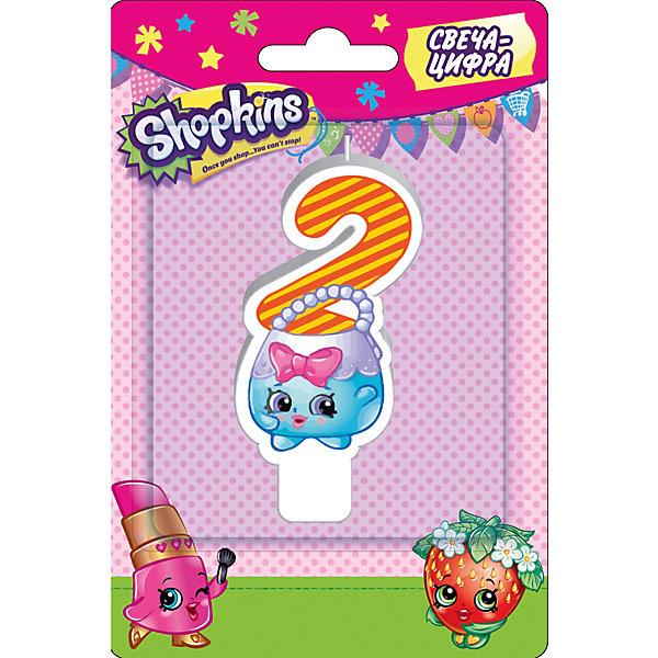 Свеча-цифра 2, 8 см, ShopkinsДетские свечи для торта<br>Характеристики товара:<br><br>• размер: 8 см<br>• состав: стеарин<br>• упаковка: блистер<br>• страна бренда: Россия<br>• страна изготовитель: Китай<br><br>Очаровательная фигурная свеча Цифра 2 с изображением одной из коллекционных игрушек Shopkins мило украсит праздничный тортик в честь дня рождения малютки. Высота свечи из стеарина: 8 см.<br><br>Свечу-цифру 2, 8 см, Shopkins, вы можете приобрести в нашем интернет-магазине.<br>Ширина мм: 150; Глубина мм: 100; Высота мм: 70; Вес г: 40; Возраст от месяцев: 36; Возраст до месяцев: 2147483647; Пол: Женский; Возраст: Детский; SKU: 5453514;