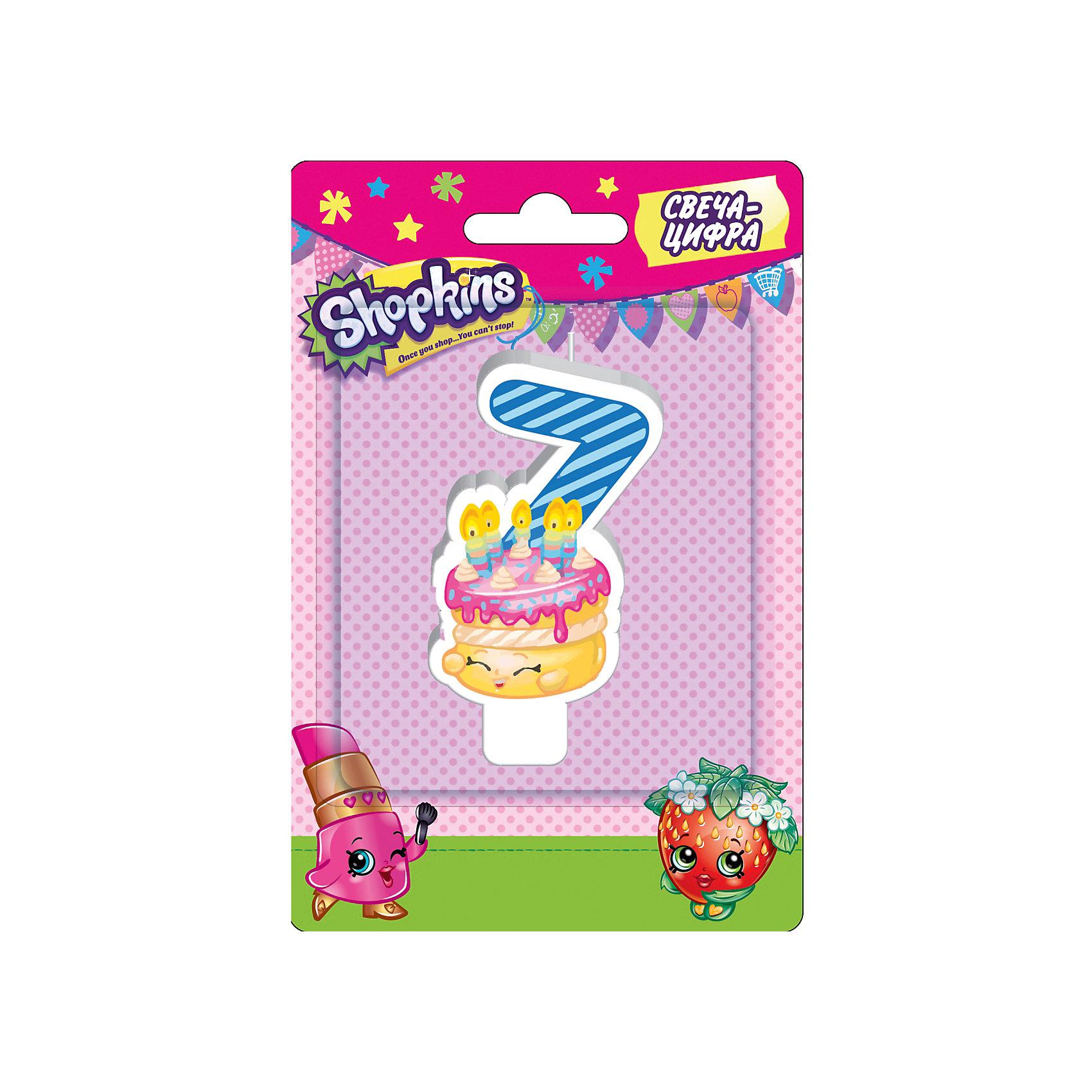 Свеча-цифра 7, 8 см, ShopkinsВсё для праздника<br>Характеристики товара:<br><br>• размер: 8 см<br>• состав: стеарин<br>• упаковка: блистер<br>• страна бренда: Россия<br>• страна изготовитель: Китай<br><br>Очаровательная фигурная свеча Цифра 7 с изображением одной из коллекционных игрушек Shopkins мило украсит праздничный тортик в честь дня рождения малютки. Высота свечи из стеарина: 8 см.<br><br>Свечу-цифру 7, 8 см, Shopkins, вы можете приобрести в нашем интернет-магазине.<br><br>Ширина мм: 150<br>Глубина мм: 100<br>Высота мм: 70<br>Вес г: 40<br>Возраст от месяцев: 36<br>Возраст до месяцев: 2147483647<br>Пол: Женский<br>Возраст: Детский<br>SKU: 5453523