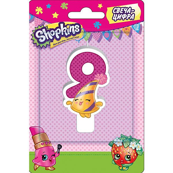 Свеча-цифра 9, 8 см, ShopkinsДетские свечи для торта<br>Характеристики товара:<br><br>• размер: 8 см<br>• состав: стеарин<br>• упаковка: блистер<br>• страна бренда: Россия<br>• страна изготовитель: Китай<br><br>Очаровательная фигурная свеча Цифра 9 с изображением одной из коллекционных игрушек Shopkins мило украсит праздничный тортик в честь дня рождения малютки. Высота свечи из стеарина: 8 см.<br><br>Свечу-цифру 9, 8 см, Shopkins, вы можете приобрести в нашем интернет-магазине.<br>Ширина мм: 150; Глубина мм: 100; Высота мм: 70; Вес г: 40; Возраст от месяцев: 36; Возраст до месяцев: 2147483647; Пол: Женский; Возраст: Детский; SKU: 5453525;