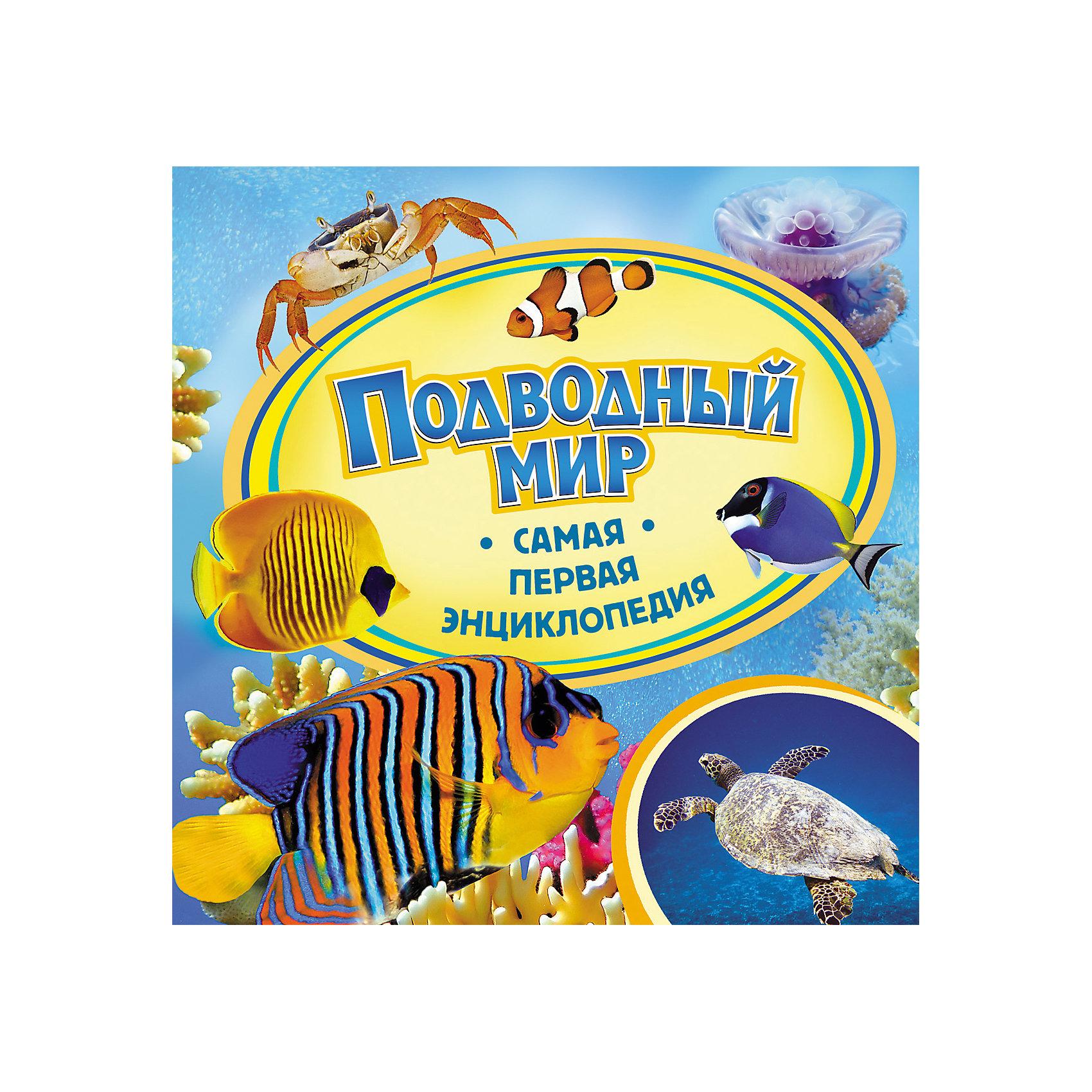 Самая первая энциклопедия Подводный мирДетские энциклопедии<br>Характеристики:<br>• количество страниц: 36;<br>• иллюстрации: цветные;<br>• переплёт: твёрдый;<br>• формат: 22х22х0,6 см;<br>• вес: 178 грамм;<br>• ISBN: 9785353059646.<br><br>Энциклопедия «Подводный мир» содержит много интересной информации и жителях и особенностях подводного мира. В ней малыш найдет ответы на все вопросы об окружающем мире, узнает познавательные факты и прочитает интересные рассказы.<br><br>Понятное изложение и красочные картинки сделают энциклопедию любимой книгой любознательного малыша.<br><br>Самую первую энциклопедию Подводный мир, Rosman (Росмэн) можно купить в нашем интернет-магазине.<br><br>Ширина мм: 225<br>Глубина мм: 225<br>Высота мм: 70<br>Вес г: 295<br>Возраст от месяцев: 36<br>Возраст до месяцев: 2147483647<br>Пол: Унисекс<br>Возраст: Детский<br>SKU: 5453593