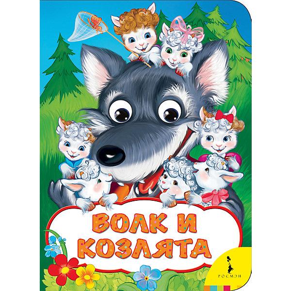 Книжка Волк и козлятаПервые книги малыша<br>Характеристики:<br>• количество страниц: 8;<br>• иллюстрации: цветные;<br>• переплёт: твердый;<br>• формат: 22х16х0,5 см;<br>• вес: 100 грамм;<br>• ISBN: 9785353082606.<br><br>Интересная история о волке и козлятах познакомит малыша с понятиями доброты, ответственности и взаимопомощи. Добрая сказка со счастливым концом - прекрасный выбор для самых маленьких.<br><br>Сказка дополнена красочными иллюстрациями. Глаза в книге подвижны.<br><br>Книжку Волк и козлята,  Rosman (Росмэн) можно купить в нашем интернет-магазине.<br><br>Ширина мм: 220<br>Глубина мм: 160<br>Высота мм: 50<br>Вес г: 122<br>Возраст от месяцев: -2147483648<br>Возраст до месяцев: 2147483647<br>Пол: Унисекс<br>Возраст: Детский<br>SKU: 5453614