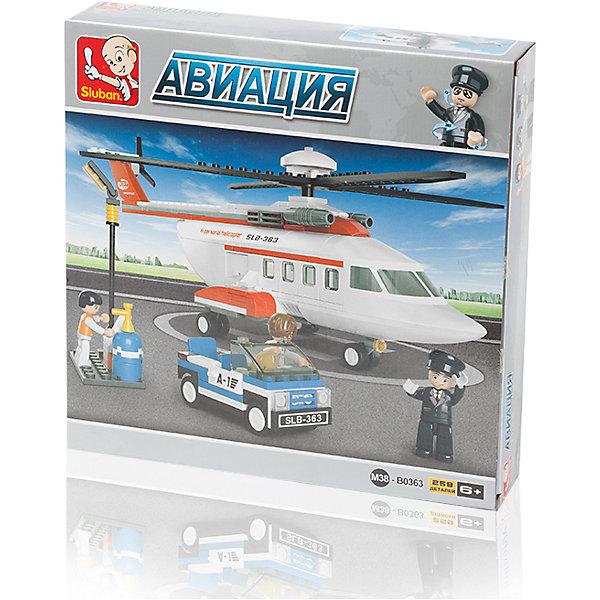 Конструктор Авиация: Грузовой вертолёт, 259 деталей, SlubanПластмассовые конструкторы<br>Конструктор Авиация: Грузовой вертолёт, 259 деталей, Sluban (Слубан)<br><br>Характеристики:<br><br>• возраст: от 6 лет<br>• реалистичный вертолет<br>• мини-фигурки в комплекте<br>• количество деталей: 259<br>• материал: пластик<br>• размер упаковки: 5,4х28,5х28,5 см<br>• вес: 430 грамм<br><br>Конструктор Авиация: Грузовой вертолет - настоящая находка для юных строителей. В комплект входят более 250 деталей, из которых ребенок сможет построить маленькую копию настоящего вертолета. Фигурки и машинка, входящие в комплект помогут ребенку придумать интересные сценки из жизни пилота.<br><br>Конструктор Авиация: Грузовой вертолёт, 259 деталей, Sluban (Слубан) вы можете купить в нашем интернет-магазине.<br><br>Ширина мм: 285<br>Глубина мм: 285<br>Высота мм: 54<br>Вес г: 430<br>Возраст от месяцев: 72<br>Возраст до месяцев: 2147483647<br>Пол: Мужской<br>Возраст: Детский<br>SKU: 5453678