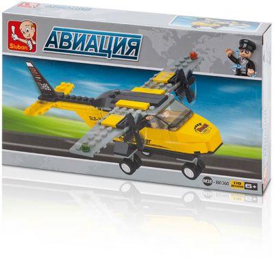 Конструктор Авиация: Вертолёт , 110 деталей, Sluban
