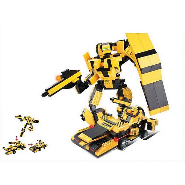 Конструктор Космический десант: Робот-трансформер Король дороги, 284 детали, SlubanПластмассовые конструкторы<br>Конструктор Космический десант: Робот-трансформер Король дороги, 284 детали, Sluban  (Слубан)<br><br>Характеристики:<br><br>• возраст: от 6 лет<br>• робот трансформируется в машину<br>• подвижные колеса<br>• количество деталей: 284<br>• материал: пластик<br>• размер упаковки: 5,4х28,5х28,5 см<br>• вес: 680 грамм<br><br>Король дороги - робот-трансформер, которого ребенок сможет собрать из деталей конструктора Sluban. Устрашающий робот легко трансформируется в автомобиль с подвижными колесами. С этим роботом можно придумать множество увлекательных и захватывающих приключений!<br><br>Конструктор Космический десант: Робот-трансформер Король дороги, 284 детали, Sluban (Слубан)  вы можете купить в нашем интернет-магазине.<br>Ширина мм: 285; Глубина мм: 285; Высота мм: 54; Вес г: 680; Возраст от месяцев: 72; Возраст до месяцев: 2147483647; Пол: Мужской; Возраст: Детский; SKU: 5453695;