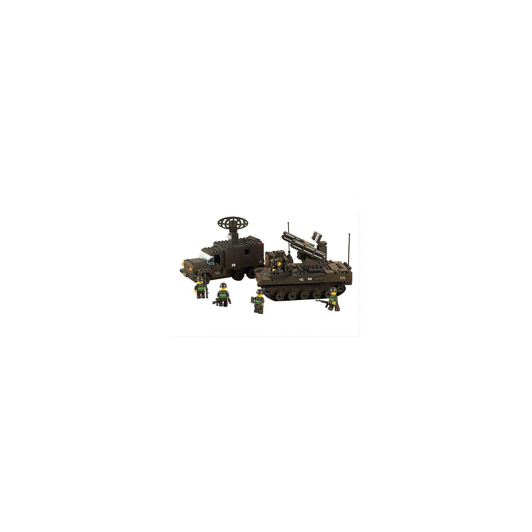 Конструктор Сухопутные войска: Боевая готовность, 511 деталей, SlubanПластмассовые конструкторы<br>Конструктор Сухопутные войска: Боевая готовность, 511 деталей, Sluban  (Слубан)<br><br>Характеристики:<br><br>• возраст: от 6 лет<br>• зенитно-ракетный комплекс и радиолокационная станция<br>• мини-фигурки в комплекте<br>• количество деталей: 511<br>• материал: пластик<br>• размер упаковки: 6х28,5х38 см<br>• вес: 1080 грамм<br><br>Зенитно-ракетный комплекс и радиолокационная станция - мечта любого маленького солдата. Из конструктора Sluban ребенок сможет самостоятельно соорудить необходимую технику. В комплект входят пять фигурок военных, которые быстро найдут цель и уничтожат ее с помощью зенитно-ракетной установки. С этим конструктором ребенок весело проведет время!<br><br>Конструктор Сухопутные войска: Боевая готовность, 511 деталей, Sluban (Слубан)  можно купить в нашем интернет-магазине.<br><br>Ширина мм: 380<br>Глубина мм: 285<br>Высота мм: 60<br>Вес г: 1080<br>Возраст от месяцев: 72<br>Возраст до месяцев: 2147483647<br>Пол: Мужской<br>Возраст: Детский<br>SKU: 5453699