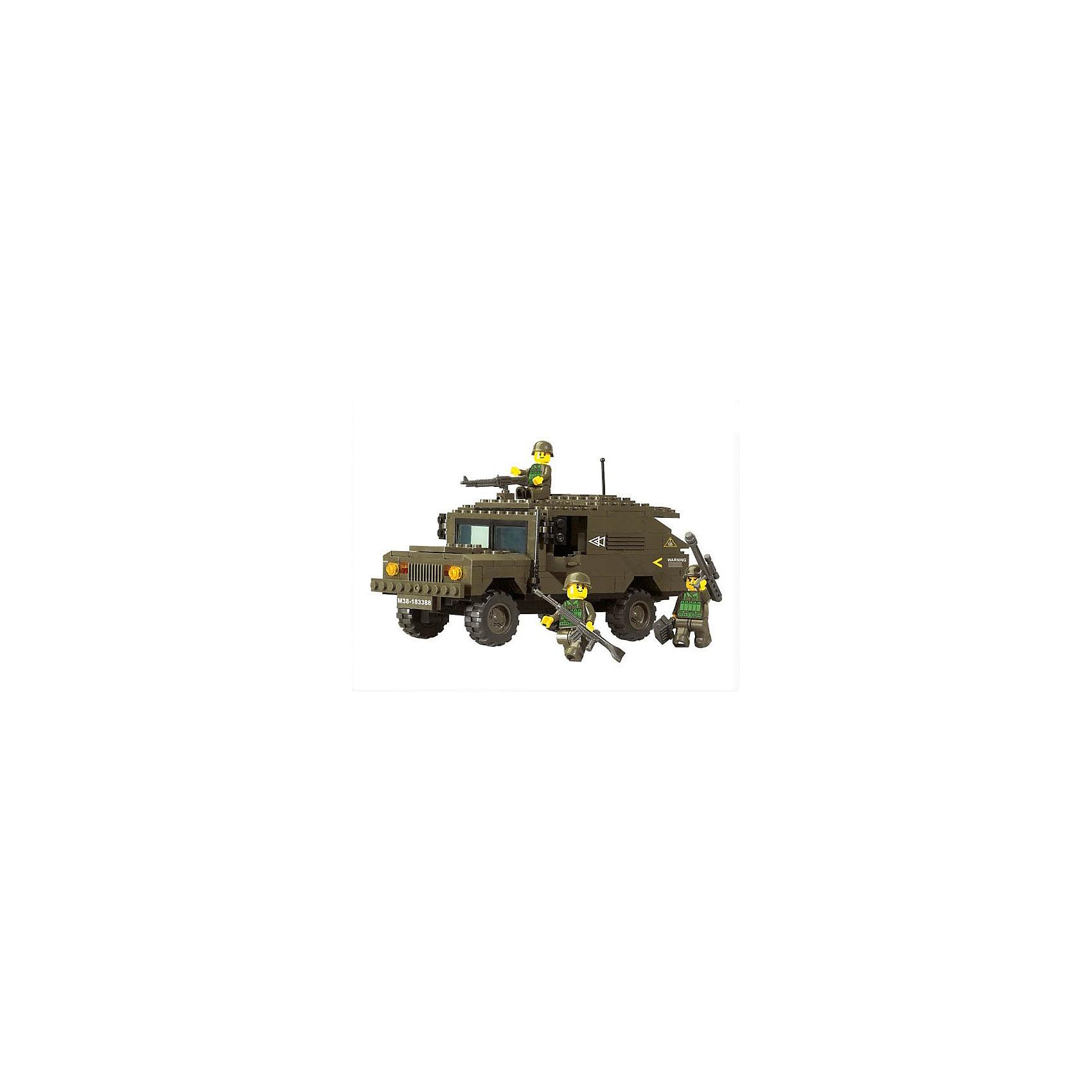 Конструктор Сухопутные войска: Броневик с пулемётом, 191 деталь, SlubanПластмассовые конструкторы<br>Конструктор Сухопутные войска: Броневик с пулемётом, 191 деталь, Sluban  (Слубан)<br><br>Характеристики:<br><br>• возраст: от 6 лет<br>• бронированный Хаммер с военными<br>• мини-фигурки в комплекте<br>• количество деталей: 191<br>• материал: пластик<br>• размер упаковки: 5,5х22,5х31 см<br>• вес: 580 грамм<br><br>Для полноценной игры юному солдату может понадобиться военный броневик. Из конструктора Sluban ребенок сможет собрать броневик Hummer с пулемётом. В комплект входят три фигурки военных. Для них вы сможете придумать самые героические приключения. <br><br>Конструктор Сухопутные войска: Броневик с пулемётом, 191 деталь, Sluban (Слубан)  вы можете купить в нашем интернет-магазине.<br><br>Ширина мм: 310<br>Глубина мм: 225<br>Высота мм: 55<br>Вес г: 580<br>Возраст от месяцев: 72<br>Возраст до месяцев: 2147483647<br>Пол: Мужской<br>Возраст: Детский<br>SKU: 5453700