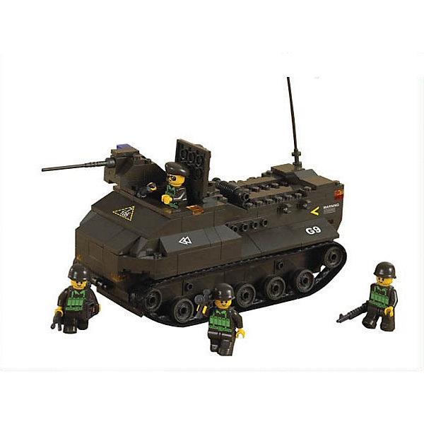 Конструктор Сухопутные войска: Десантный бронетранспортёр, 223 детали, SlubanПластмассовые конструкторы<br>Конструктор Сухопутные войска: Десантный бронетранспортёр, 223 детали, Sluban (Слубан)<br><br>Характеристики:<br><br>• возраст: от 6 лет<br>• бронетранспортер-амфибия<br>• мини-фигурки в комплекте<br>• количество деталей: 223<br>• материал: пластик<br>• размер упаковки: 5,5х22,5х31 см<br>• вес: 590 грамм<br><br>Из конструктора Sluban ребенок сможет собрать десантный бронетранспортер-амфибию. Он легко передвигается по земле и по воде. В комплект входят четыре фигурки военных, спешащих прибыть к пункту назначения. Ребенок сможет придумать интересные сюжеты для игры в военных.<br><br>Конструктор Сухопутные войска: Десантный бронетранспортёр, 223 детали, Sluban (Слубан) можно купить в нашем интернет-магазине.<br>Ширина мм: 310; Глубина мм: 225; Высота мм: 55; Вес г: 590; Возраст от месяцев: 72; Возраст до месяцев: 2147483647; Пол: Унисекс; Возраст: Детский; SKU: 5453701;