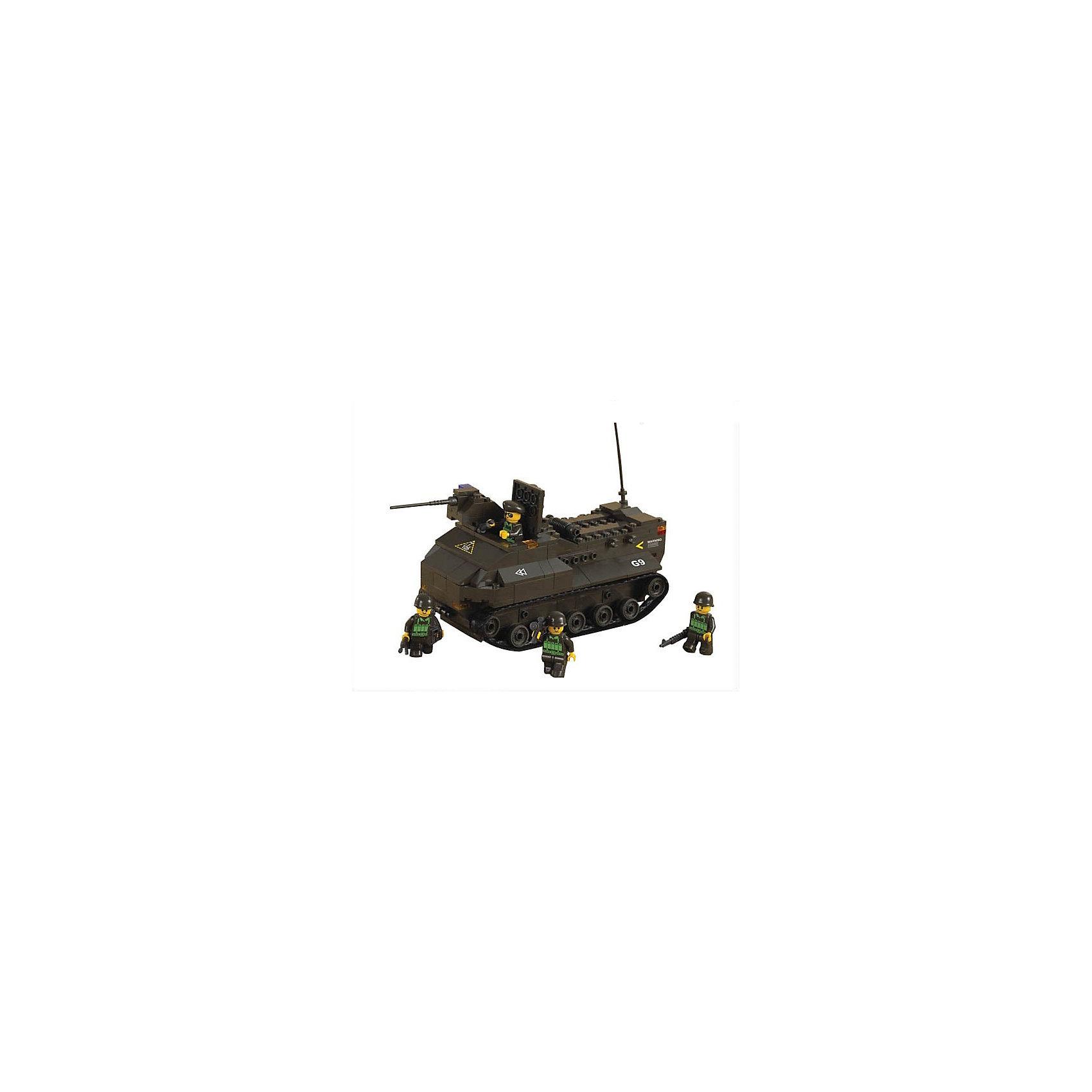 Конструктор Сухопутные войска: Десантный бронетранспортёр, 223 детали, SlubanПластмассовые конструкторы<br>Конструктор Сухопутные войска: Десантный бронетранспортёр, 223 детали, Sluban (Слубан)<br><br>Характеристики:<br><br>• возраст: от 6 лет<br>• бронетранспортер-амфибия<br>• мини-фигурки в комплекте<br>• количество деталей: 223<br>• материал: пластик<br>• размер упаковки: 5,5х22,5х31 см<br>• вес: 590 грамм<br><br>Из конструктора Sluban ребенок сможет собрать десантный бронетранспортер-амфибию. Он легко передвигается по земле и по воде. В комплект входят четыре фигурки военных, спешащих прибыть к пункту назначения. Ребенок сможет придумать интересные сюжеты для игры в военных.<br><br>Конструктор Сухопутные войска: Десантный бронетранспортёр, 223 детали, Sluban (Слубан) можно купить в нашем интернет-магазине.<br><br>Ширина мм: 310<br>Глубина мм: 225<br>Высота мм: 55<br>Вес г: 590<br>Возраст от месяцев: 72<br>Возраст до месяцев: 2147483647<br>Пол: Унисекс<br>Возраст: Детский<br>SKU: 5453701