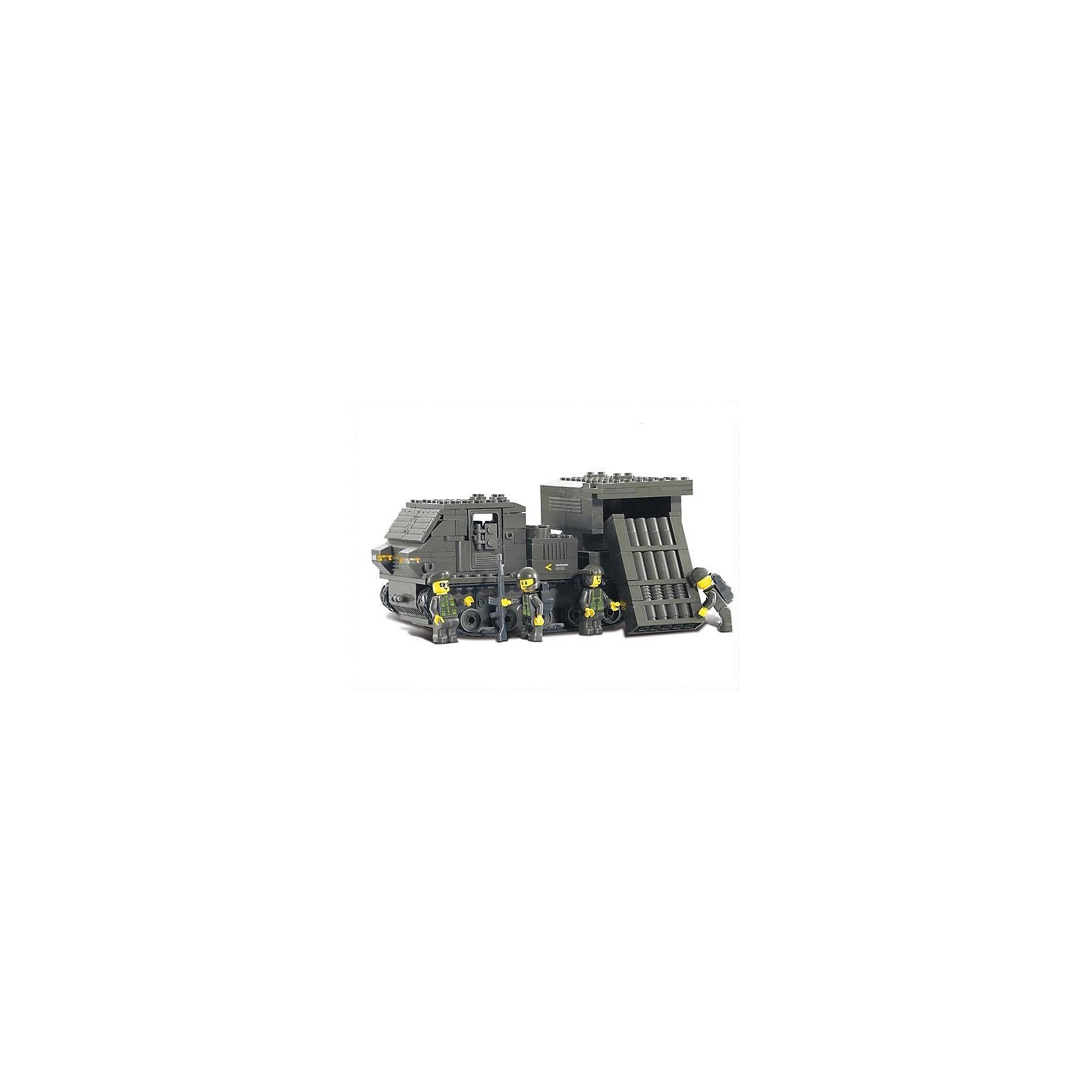 Конструктор Сухопутные войска: Самоходная установка с ракетным комплексом, 314 деталей, SlubanПластмассовые конструкторы<br>Конструктор Сухопутные войска: Самоходная установка с ракетным комплексом, 314 деталей, Sluban (Слубан)<br><br>Характеристики:<br><br>• возраст: от 6 лет<br>• ракетный комплекс с военными<br>• мини-фигурки в комплекте<br>• количество деталей: 314<br>• материал: пластик<br>• размер упаковки: 5,5х23х36 см<br>• вес: 720 грамм<br><br>Конструктор Sluban - отличный подарок для юного военного. В комплект входят 314 деталей с четырьмя фигурками военных. Ребенок сможет собрать самоходный ракетный комплекс. Игра способствует развитию воображения и мелкой моторики.<br><br>Конструктор Сухопутные войска: Самоходная установка с ракетным комплексом, 314 деталей, Sluban (Слубан) можно купить в нашем интернет-магазине.<br><br>Ширина мм: 360<br>Глубина мм: 230<br>Высота мм: 55<br>Вес г: 720<br>Возраст от месяцев: 72<br>Возраст до месяцев: 2147483647<br>Пол: Мужской<br>Возраст: Детский<br>SKU: 5453704