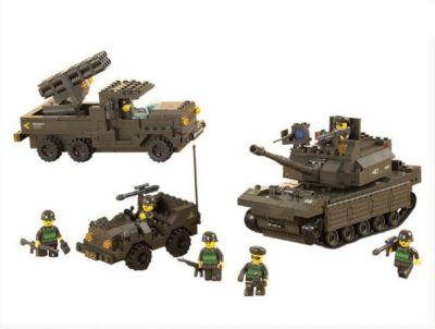 Конструктор Сухопутные войска: Сражение , 602 детали, Sluban