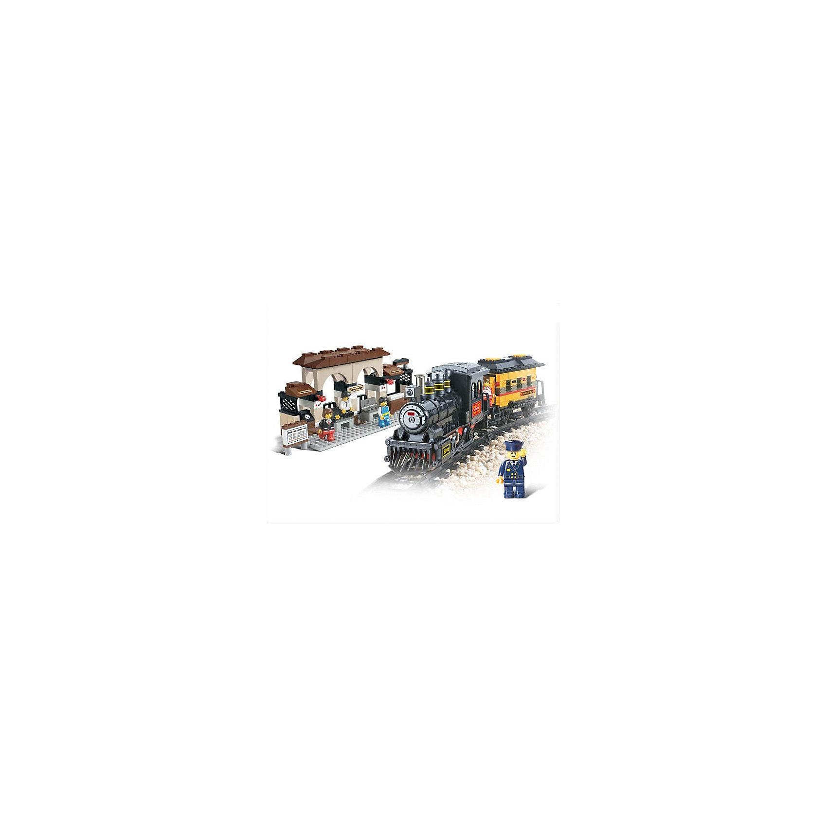 Конструктор Железнодорожный вокзал: Пассажирский поезд, 301 деталь, SlubanПластмассовые конструкторы<br>Конструктор Железнодорожный вокзал: Пассажирский поезд, 301 деталь, Sluban  (Слубан)<br><br>Характеристики:<br><br>• возраст: от 6 лет<br>• железнодорожная станция и поезд<br>• световые и звуковые эффекты<br>• мини-фигурки в комплекте<br>• для работы необходимы батарейки<br>• количество деталей: 301<br>• материал: пластик<br>• размер упаковки: 7,8х36х56 см<br>• вес: 2000 грамм<br><br>Из конструктора Железнодорожный вокзал: Пассажирский поезд ребенок сможет построить настоящую железную дорогу своими руками. На вокзале можно расположить пассажиров, ожидающих прибытия поезда. Поезд может двигаться по рельсам самостоятельно, издавая реалистичные звуки. Для работы необходимы батарейки (не входят в комплект).<br><br>Конструктор Железнодорожный вокзал: Пассажирский поезд, 301 деталь, Sluban (Слубан)  можно купить в нашем интернет-магазине.<br><br>Ширина мм: 560<br>Глубина мм: 360<br>Высота мм: 78<br>Вес г: 2000<br>Возраст от месяцев: 72<br>Возраст до месяцев: 2147483647<br>Пол: Мужской<br>Возраст: Детский<br>SKU: 5453708