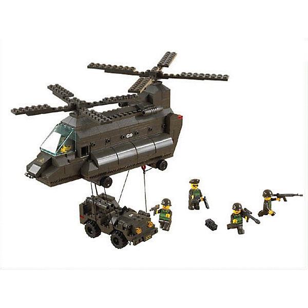 Конструктор Армия: Передислокация, 370 деталей, SlubanПластмассовые конструкторы<br>Конструктор Сухопутные войска: Передислокация, 370 деталей, Sluban  (Слубан)<br><br>Характеристики:<br><br>• возраст: от 6 лет<br>• вертолет и джип с военными<br>• мини-фигурки в комплекте<br>• количество деталей: 370<br>• материал: пластик<br>• размер упаковки: 6,7х28,5х42,5 см<br>• вес: 870 грамм<br><br>Из конструктора Sluban ребенок с легкостью соберет целую военную сценку. Вертолет, джип и военные - здесь есть всё необходимое для полноценной игры. Игра с конструктором способствует развитию мелкой моторики, воображения и координации движений.<br><br>Конструктор Сухопутные войска: Передислокация, 370 деталей, Sluban (Слубан)  вы можете купить в нашем интернет-магазине.<br><br>Ширина мм: 425<br>Глубина мм: 285<br>Высота мм: 67<br>Вес г: 870<br>Возраст от месяцев: 72<br>Возраст до месяцев: 2147483647<br>Пол: Мужской<br>Возраст: Детский<br>SKU: 5453714