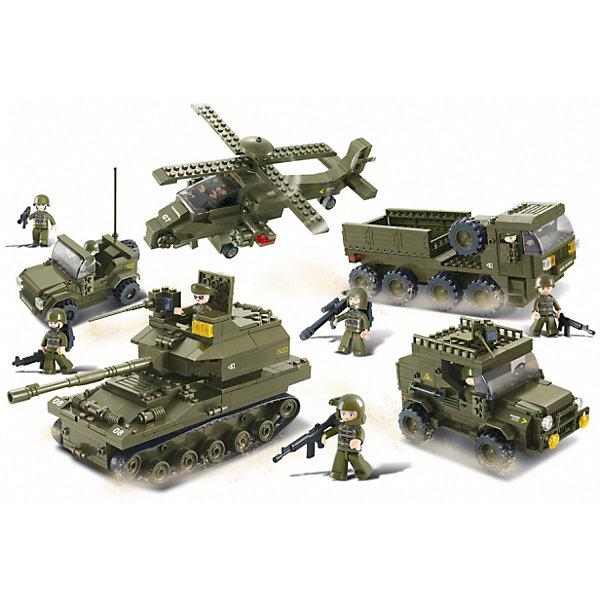 Конструктор Армия: Полное вооружение, 996 деталей, SlubanПластмассовые конструкторы<br>Конструктор Армия: Полное вооружение, 996 деталей, Sluban  (Слубан)<br><br>Характеристики:<br><br>• возраст: от 6 лет<br>• набор военной техники из конструктора<br>• мини-фигурки в комплекте<br>• количество деталей: 996<br>• материал: пластик<br>• размер упаковки: 9х47,5х64 см<br>• вес: 1900 грамм<br><br>Конструктор Армия: Полное вооружение позволит ребенку построить настоящую военную базу. Из 996 деталей ребенок сделает танк, джип, вертолет и многое другое. В комплект входят 10 фигурок военных, готовых в любой момент нанести удар врагу. С таким набором ребенок никогда не заскучает!<br><br>Конструктор Армия: Полное вооружение, 996 деталей, Sluban (Слубан)  можно купить в нашем интернет-магазине.<br><br>Ширина мм: 640<br>Глубина мм: 475<br>Высота мм: 90<br>Вес г: 1900<br>Возраст от месяцев: 72<br>Возраст до месяцев: 2147483647<br>Пол: Мужской<br>Возраст: Детский<br>SKU: 5453715