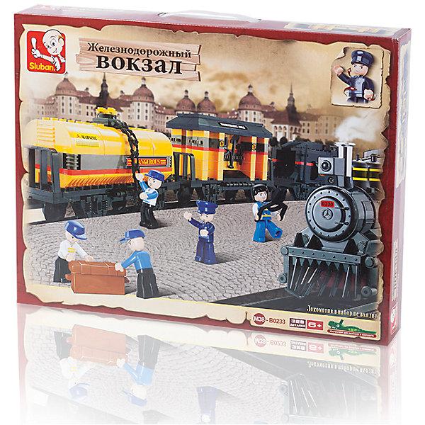 Конструктор Железнодорожный вокзал: Грузовой поезд, 328 деталей, SlubanПластмассовые конструкторы<br>Конструктор Железнодорожный вокзал: Грузовой поезд, 328 деталей, Sluban (Слубан)<br><br>Характеристики:<br><br>• возраст: от 6 лет<br>• вагоны для поезда из конструктора<br>• количество фигурок: 5<br>• количество деталей: 328<br>• материал: пластик<br>• размер упаковки: 6,7х33х42,5 см<br>• вес: 880 грамм<br><br>Дополнительные вагоны для поезда нужны каждому юному железнодорожнику. В комплект входят 5 фигурок рабочих, которые быстро устранят поломки. Ребенок сможет построить состав из 328 фигурок конструктора Sluban. Все детали изготовлены из высококачественного пластика. Игра с конструктором развивает мелкую моторику, усидчивость и воображение.<br><br>Конструктор Железнодорожный вокзал: Грузовой поезд, 328 деталей, Sluban (Слубан) вы можете купить в нашем интернет-магазине.<br><br>Ширина мм: 425<br>Глубина мм: 330<br>Высота мм: 67<br>Вес г: 880<br>Возраст от месяцев: 72<br>Возраст до месяцев: 2147483647<br>Пол: Мужской<br>Возраст: Детский<br>SKU: 5453741