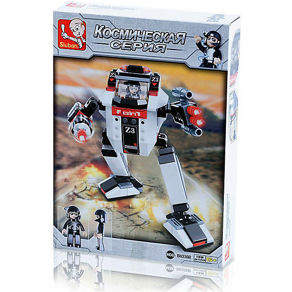Конструктор Космическая серия: Робот Защита от ночного нападения, 139 деталей, SlubanПластмассовые конструкторы<br>Конструктор Космическая серия: Робот Защита от ночного нападения, 139 деталей, Sluban (Слубан)<br><br>Характеристики:<br><br>• возраст: от 6 лет<br>• робот-трансформер из конструктора<br>• количество деталей: 139<br>• материал: пластик<br>• размер упаковки: 4,5х19х26 см<br>• вес: 240 грамм<br><br>Робот Z3 защитит от нападения врагов не только днем, но и ночью! Робот легко трансформируется в космический корабль. Робот состоит из из 139 деталей из высококачественного пластика. Игра поможет развить ребенку мелкую моторику, воображение и логическое мышление.<br><br>Конструктор Космическая серия: Робот Защита от ночного нападения, 139 деталей, Sluban (Слубан) можно купить в нашем интернет-магазине.<br><br>Ширина мм: 260<br>Глубина мм: 190<br>Высота мм: 45<br>Вес г: 240<br>Возраст от месяцев: 72<br>Возраст до месяцев: 2147483647<br>Пол: Мужской<br>Возраст: Детский<br>SKU: 5453749