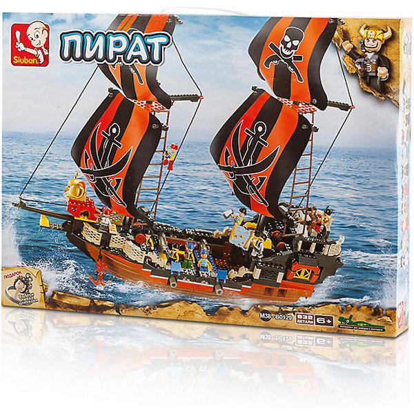 Конструктор Пират: Двухмачтовое судно, SlubanПластмассовые конструкторы<br>Конструктор Пират: Двухмачтовое судно, Sluban (Слубан)<br><br>Характеристики:<br><br>• возраст: от 6 лет<br>• пиратский корабль и вышка из конструктора<br>• количество фигурок: 10<br>• количество деталей: 632<br>• материал: пластик<br>• размер упаковки: 9х47,5х64 см<br>• вес: 2170 грамм<br><br>Чтобы стать настоящим пиратом, нужно построить надежный корабль. Из 632 деталей конструктора Sluban ребенок сможет построить двухмачтовое судно, оснащенное оружием и пиратской вышкой. В комплект входят 10 фигурок, готовых в любой момент плыть навстречу сокровищам. Игра способствует развитию мелкой моторики, воображения и усидчивости.<br><br>Конструктор Пират: Двухмачтовое судно, Sluban (Слубан) вы моете купить в нашем интернет-магазине.<br><br>Ширина мм: 640<br>Глубина мм: 475<br>Высота мм: 90<br>Вес г: 2170<br>Возраст от месяцев: 72<br>Возраст до месяцев: 2147483647<br>Пол: Мужской<br>Возраст: Детский<br>SKU: 5453756