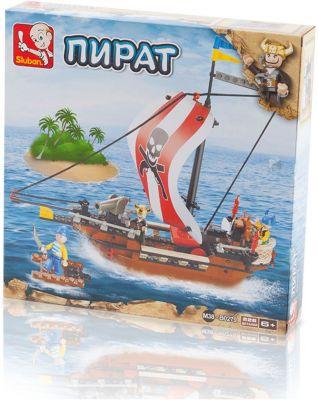 Конструктор Пират: Одномачтовое судно , 226 деталей, Sluban