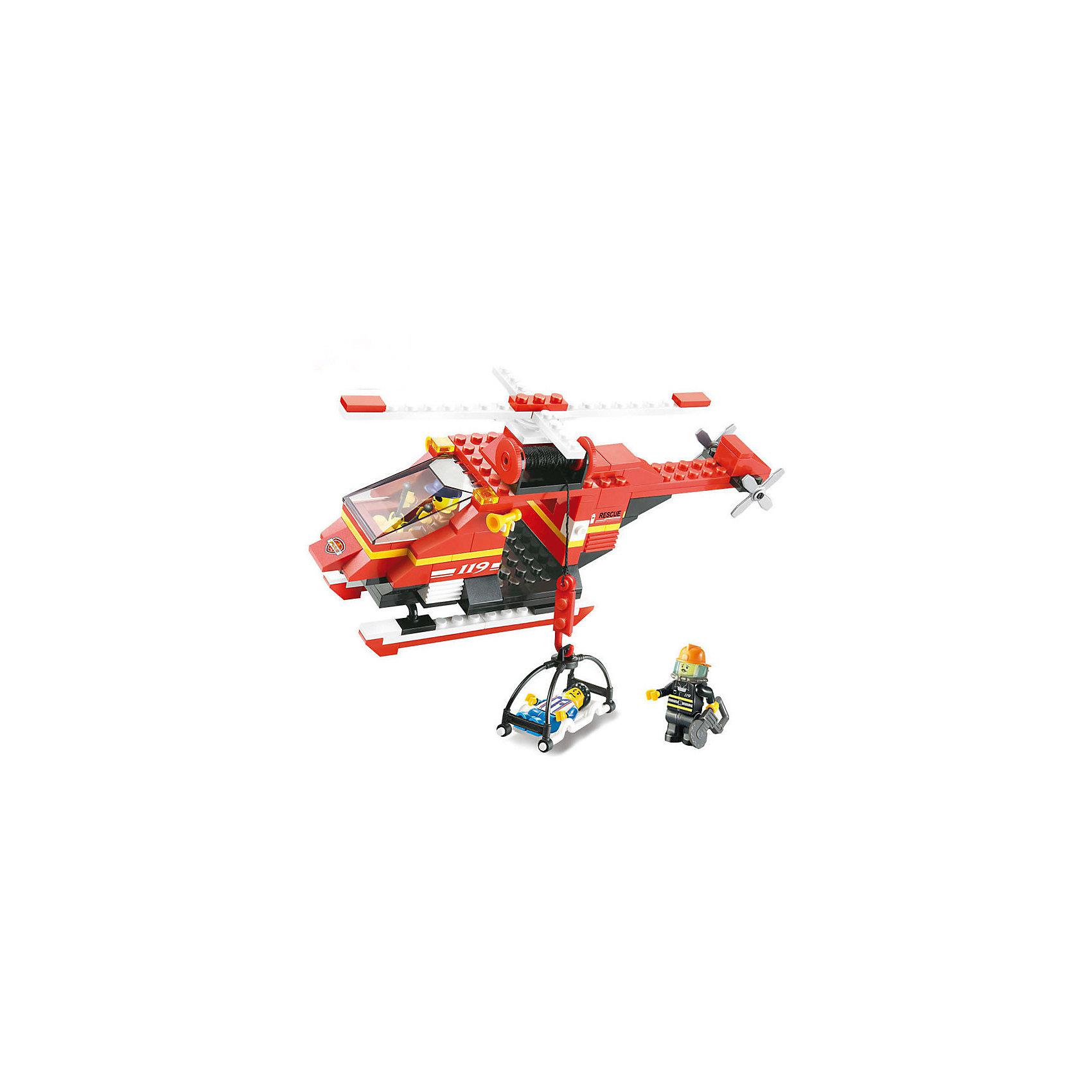 Конструктор Пожарный: Вертолёт, 155 деталей, SlubanПластмассовые конструкторы<br>Конструктор Пожарный: Вертолёт, 155 деталей, Sluban (Слубан)<br><br>Характеристики:<br><br>• возраст: от 6 лет<br>• пожарный вертолет и носилки из конструктора<br>• количество фигурок: 1<br>• количество деталей: 155<br>• материал: пластик<br>• размер упаковки: 5,4х19х28,5 см<br>• вес: 328 грамм<br><br>Для полноценной спасательной операции может потребоваться вертолет. Из конструктора Sluban ребенок сможет собрать спасательный вертолет с лебедкой и носилками. Фигурка, входящая в комплект, отлично подойдет для создания различных сюжетов игры. Сюжетно-роевой конструктор способствует развитию моторики рук, координации, усидчивости и воображения.<br><br>Конструктор Пожарный: Вертолёт, 155 деталей, Sluban (Слубан) можно купить в нашем интернет-магазине.<br><br>Ширина мм: 285<br>Глубина мм: 190<br>Высота мм: 54<br>Вес г: 328<br>Возраст от месяцев: 72<br>Возраст до месяцев: 2147483647<br>Пол: Мужской<br>Возраст: Детский<br>SKU: 5453762