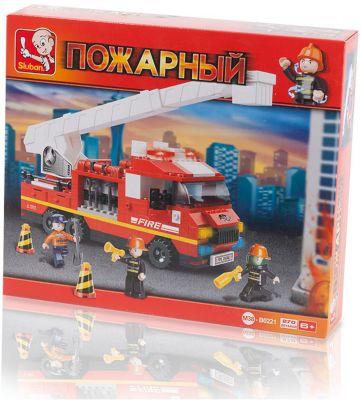 Конструктор Пожарный: Пожарная Машина С Лестницей , 270 Деталей, Sluban
