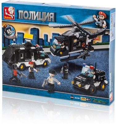 Конструктор Полиция: Поисково-спасательная операция , 499 деталей, Sluban