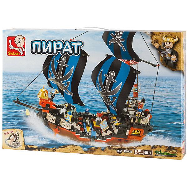 Конструктор Пират: Сражение в море, SlubanПластмассовые конструкторы<br>Конструктор Пират: Сражение в море, Sluban (Слубан)<br><br>Характеристики:<br><br>• возраст: от 6 лет<br>• пиратский корабль из конструктора<br>• количество деталей: 512<br>• количество фигурок: 7<br>• материал: пластик<br>• размер упаковки: 9х38х57 см<br>• вес: 1880 грамм<br><br>Настоящим пиратам нужен большой корабль. Из конструктора Sluban ребенок сможет построить корабль с двумя мачтами, вышкой и оружием. В комплект входят 7 фигурок. Он прекрасно подойдут для сюжетно-ролевых игр. Игра с конструктором развивает мелкую моторику, воображение и усидчивость.<br><br>Конструктор Пират: Сражение в море, Sluban (Слубан) вы можете купить в нашем интернет-магазине.<br><br>Ширина мм: 570<br>Глубина мм: 380<br>Высота мм: 90<br>Вес г: 1880<br>Возраст от месяцев: 72<br>Возраст до месяцев: 2147483647<br>Пол: Мужской<br>Возраст: Детский<br>SKU: 5453783