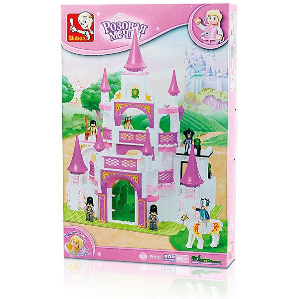 Конструктор Розовая мечта: Спасение принцессы, 508 деталей, SlubanПластмассовые конструкторы<br>Конструктор Розовая мечта: Спасение принцессы, 508 деталей, Sluban (Слубан)<br><br>Характеристики:<br><br>• возраст: от 6 лет<br>• замок<br>• количество деталей: 508<br>• количество фигурок: 6<br>• материал: пластик<br>• размер упаковки: 9х38х57 см<br>• вес: 1750 грамм<br><br>Конструктор Розовая мечта: Спасение принцессы - настоящий подарок для девочек. Он состоит из 508 деталей, собрав которые девочка увидит роскошный замок, достойный принцессы. В комплект входят 6 фигурок, с которыми можно придумать интересную игру. Игра с сюжетно-ролевым конструктором способствует развитию моторики рук, воображения и внимательности.<br><br>Конструктор Розовая мечта: Спасение принцессы, 508 деталей, Sluban (Слубан) вы можете купить в нашем интернет-магазине.<br>Ширина мм: 570; Глубина мм: 380; Высота мм: 90; Вес г: 1750; Возраст от месяцев: 72; Возраст до месяцев: 2147483647; Пол: Женский; Возраст: Детский; SKU: 5453784;