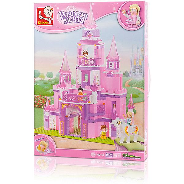 Конструктор Розовая мечта: Дворец принцессы, 472 детали, SlubanПластмассовые конструкторы<br>Конструктор Розовая мечта: Дворец принцессы, 472 детали, Sluban (Слубан)<br><br>Характеристики:<br><br>• возраст: от 6 лет<br>• большой дворец принцессы из конструктора<br>• количество деталей: 472<br>• количество фигурок: 4<br>• материал: пластик<br>• размер упаковки: 8х38х52 см<br>• вес: 1560 грамм<br><br>Большой замок или дворец - мечта каждой девочки. Конструктор Sluban поможет воплотить мечту в реальность! Из 472 деталей девочке предстоит собрать прекрасный замок с башней, балконами и садом. В комплекте есть 4 фигурки для создания интересной и увлекательной игры. С этим набором девочка весело проведет время! Игра способствует развитию мелкой моторики, воображения и внимательности.<br><br>Конструктор Розовая мечта: Дворец принцессы, 472 детали, Sluban (Слубан) вы можете купить в нашем интернет-магазине.<br><br>Ширина мм: 520<br>Глубина мм: 380<br>Высота мм: 80<br>Вес г: 1560<br>Возраст от месяцев: 72<br>Возраст до месяцев: 2147483647<br>Пол: Женский<br>Возраст: Детский<br>SKU: 5453785