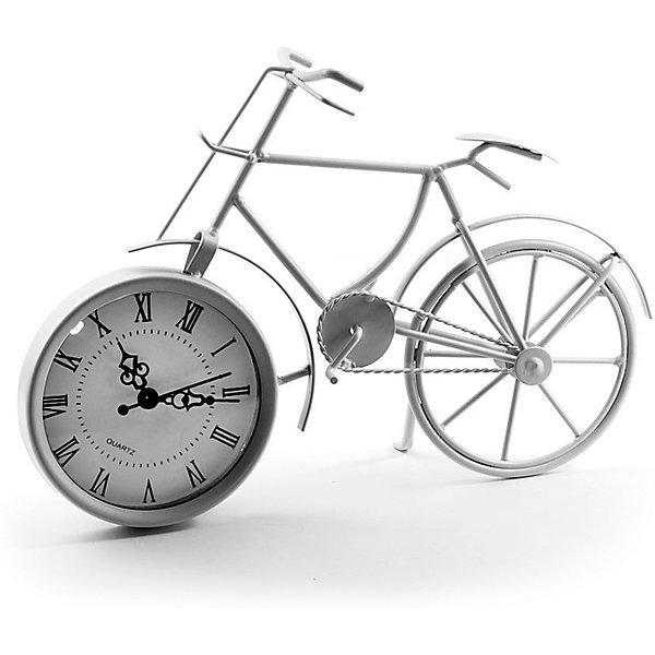 Часы Miralight настольные Велосипед белый, Яркий праздникДетские предметы интерьера<br>Часы Miralight настольные Велосипед белый, Яркий праздник<br><br>Характеристики:<br><br>• Состав: металл<br>• Размер: 29 * 8,5 * 20,5 см.<br>• Элементы питания: батарейки<br>• Страна производитель: Китай<br><br>Изящные часы от компании Miralight (Миралайт), которая специализируется на продукции для интерьеров привнесут уют в ваш дом. Настольные часы станут стильным украшением комнаты и помогут всегда быть вовремя. Лаконичный белый цвет отлично подойдет как для спальни, так и для кухни или гостиной. <br><br>Элегантные римские цифры и три ажурные стрелочки отлично подходят этим часам. Небольшие металлические части велосипеда соединяются между собой и надежно фиксируют циферблат, представляющий собой ведущее колесо, сам велосипед стоит на подножке, как у настоящего велосипеда. Привнесите в свой дом атмосферу комфорта и яркого праздника вместе с новыми часами!<br><br>Часы Miralight настольные Велосипед белый, Яркий праздник можно купить в нашем интернет-магазине.<br><br>Ширина мм: 290<br>Глубина мм: 85<br>Высота мм: 205<br>Вес г: 306<br>Возраст от месяцев: 36<br>Возраст до месяцев: 2147483647<br>Пол: Унисекс<br>Возраст: Детский<br>SKU: 5453958