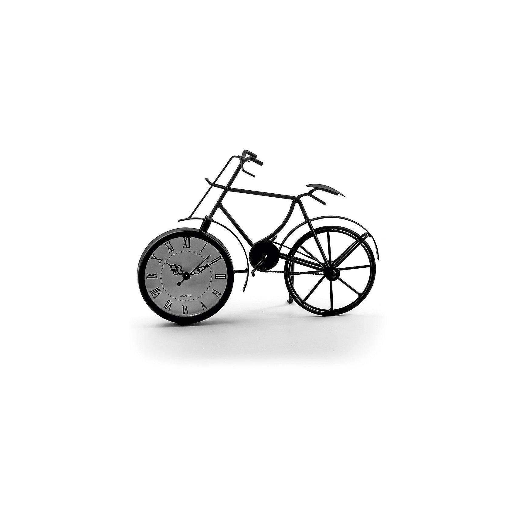 Часы Miralight настольные Велосипед чёрный, Яркий праздникПредметы интерьера<br>Часы Miralight настольные Велосипед чёрный, Яркий праздник<br><br>Характеристики:<br><br>• Состав: металл<br>• Размер: 29 * 8,5 * 20,5 см.<br>• Элементы питания: батарейки<br>• Страна производитель: Китай<br><br>Изящные часы от компании Miralight (Миралайт), которая специализируется на продукции для интерьеров привнесут уют в ваш дом. Настольные часы станут стильным украшением комнаты и помогут всегда быть вовремя. Лаконичный чёрный цвет отлично подойдет как для спальни, так и для кухни или гостиной. <br><br>Элегантные римские цифры и три ажурные стрелочки отлично подходят этим часам. Небольшие металлические части велосипеда соединяются между собой и надежно фиксируют циферблат, представляющий собой ведущее колесо, сам велосипед стоит на подножке, как у настоящего велосипеда. Привнесите в свой дом атмосферу комфорта и яркого праздника вместе с новыми часами!<br><br>Часы Miralight настольные Велосипед чёрный, Яркий праздник можно купить в нашем интернет-магазине.<br><br>Ширина мм: 290<br>Глубина мм: 85<br>Высота мм: 205<br>Вес г: 306<br>Возраст от месяцев: 36<br>Возраст до месяцев: 2147483647<br>Пол: Унисекс<br>Возраст: Детский<br>SKU: 5453959