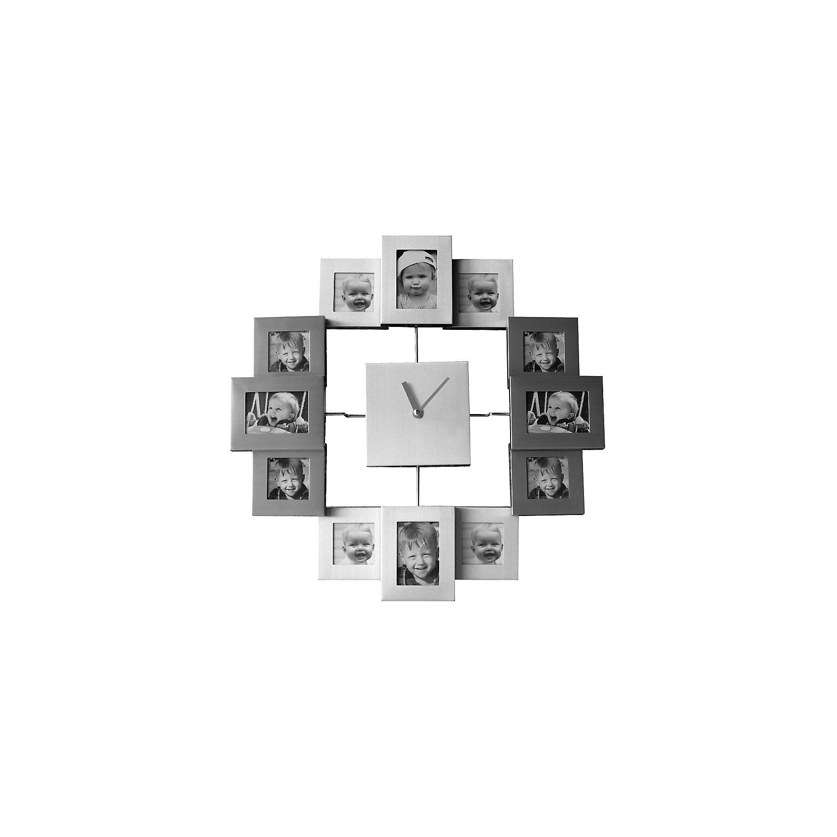Фоторамка Platinum с часами, Яркий праздникПредметы интерьера<br>Фоторамка Platinum с часами, Яркий праздник<br><br>Характеристики:<br><br>• Состав: металл<br>• Размер: 36 * 36 см.<br>• Элементы питания: батарейки<br>• Страна производитель: Китай<br><br>Изящные часы сразу с двенадцатью фоторамками от компании, специализирующейся на производстве фоторамок для интерьеров Platinum (Платинум), оживят сразу несколько воспоминаний! Подвесные часы станут стильным украшением комнаты и помогут всегда быть вовремя. Лаконичный серебряный цвет отлично подойдет как для спальни, так и для кухни или гостиной. <br><br>Две минималистичные стрелки отлично подходят к рамкам и часам. В наборе фоторамок восемь одинаковых квадратных рамочек и четыре прямоугольные – две горизонтальные и две вертикальные, созданные специально для каждого вашего любимого кадра. Привнесите в свой дом атмосферу комфорта и яркого праздника вместе с новой фоторамкой!<br><br>Фоторамку Platinum с часами, Яркий праздник можно купить в нашем интернет-магазине.<br><br>Ширина мм: 360<br>Глубина мм: 48<br>Высота мм: 360<br>Вес г: 420<br>Возраст от месяцев: 36<br>Возраст до месяцев: 2147483647<br>Пол: Унисекс<br>Возраст: Детский<br>SKU: 5453960