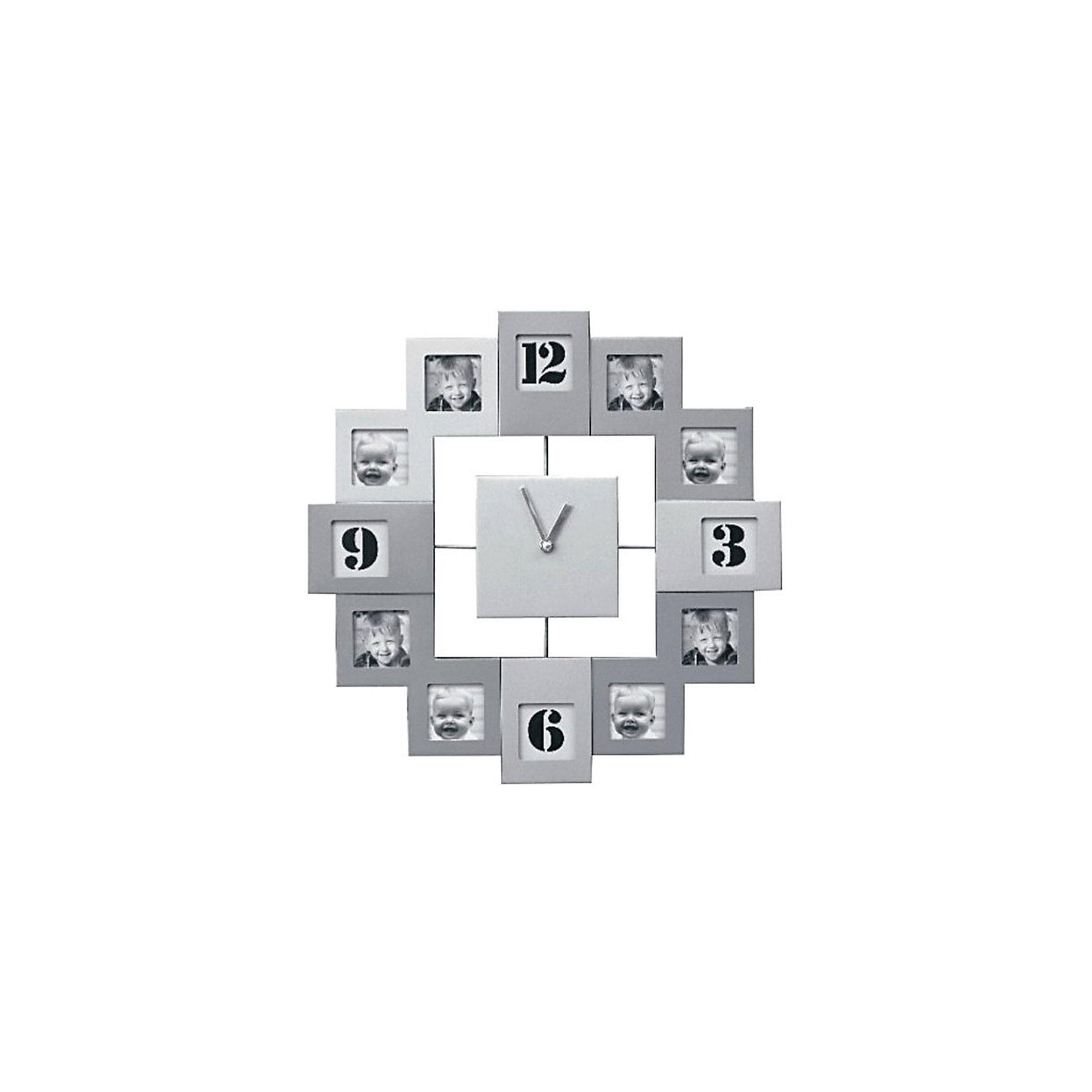 Фоторамка Platinum с часами, Яркий праздникПредметы интерьера<br>Фоторамка Platinum с часами, Яркий праздник<br><br>Характеристики:<br><br>• Состав: металл<br>• Размер: 34 * 5 * 34 см.<br>• Элементы питания: батарейки<br>• Страна производитель: Китай<br><br>Изящные часы сразу с двенадцатью фоторамками от компании, специализирующейся на производстве фоторамок для интерьеров Platinum (Платинум), оживят сразу несколько воспоминаний! Подвесные часы станут стильным украшением комнаты и помогут всегда быть вовремя. Лаконичный серебряный цвет отлично подойдет как для спальни, так и для кухни или гостиной. <br><br>Две минималистичные стрелки соответствуют стилю рамок. В наборе фоторамок восемь одинаковых квадратных рамочек и четыре прямоугольные, созданные специально для каждого вашего любимого кадра. Привнесите в свой дом атмосферу комфорта и яркого праздника вместе с новой фоторамкой!<br><br>Фоторамку Platinum с часами, Яркий праздник можно купить в нашем интернет-магазине.<br><br>Ширина мм: 340<br>Глубина мм: 48<br>Высота мм: 340<br>Вес г: 420<br>Возраст от месяцев: 36<br>Возраст до месяцев: 2147483647<br>Пол: Унисекс<br>Возраст: Детский<br>SKU: 5453962