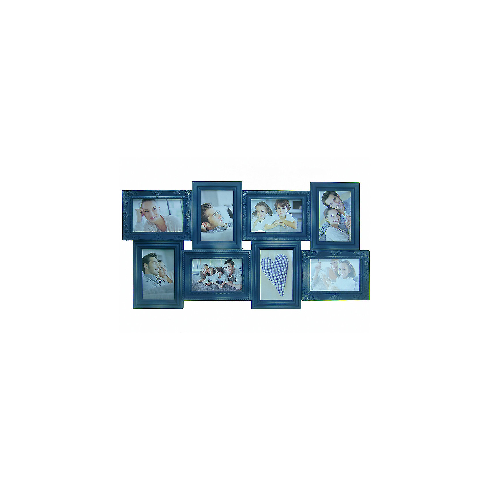 Фоторамка Platinum пластик, цвет синий джинс с патиной под старину, Яркий праздникПредметы интерьера<br>Фоторамка Platinum пластик, цвет синий джинс с патиной под старину, Яркий праздник<br><br>Характеристики:<br><br>• Состав: пластик<br>• Размер: 69 * 3 * 36 см.<br>• Размер фотографий: 10 * 15 см.<br>• Страна производитель: Китай<br><br>Изящная подвесная фоторамка включает в себя целых восемь рамок от компании, специализирующейся на производстве фоторамок для интерьеров Platinum (Платинум), и оживит сразу несколько воспоминаний! Фоторамки станут стильным украшением комнаты, а красивый темно-синий джинсовый цвет, отделанный под старину отлично подойдет как для спальни, так и для кухни или гостиной. <br><br>Фоторамки отделаны рельефным дизайном, расположены структурированно и отлично подойдут для серии горизонтальных и вертикальных тематических снимков. Размер каждой рамки 10 * 15 см, это стандартный размер фото, поэтому для этой фоторамки вам не потребуется перепечатывать уже имеющиеся фото. Фоторамка станет превосходным подарком для любого важного события от годовщины до новоселья. Привнесите в дом атмосферу комфорта и яркого праздника вместе с новой фоторамкой!<br><br>Фоторамку Platinum пластик, цвет синий джинс с патиной под старину, Яркий праздник можно купить в нашем интернет-магазине.<br><br>Ширина мм: 690<br>Глубина мм: 48<br>Высота мм: 360<br>Вес г: 485<br>Возраст от месяцев: 36<br>Возраст до месяцев: 2147483647<br>Пол: Унисекс<br>Возраст: Детский<br>SKU: 5453997