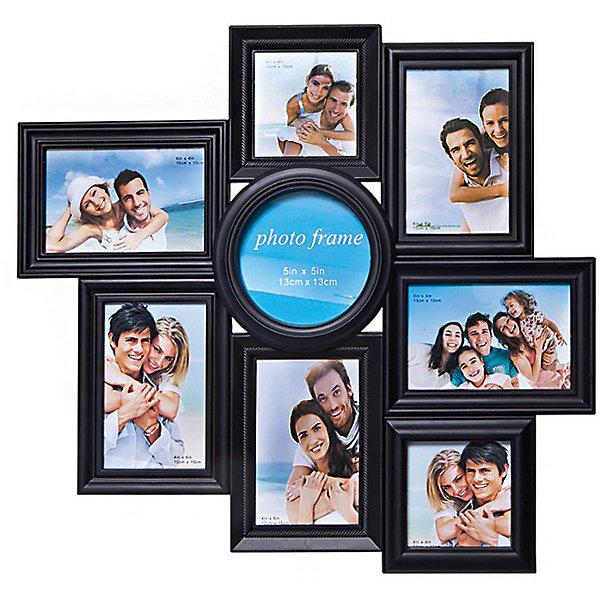 Фоторамка Platinum, пластик, черная, Яркий праздникДетские предметы интерьера<br>Фоторамка Platinum, пластик, чёрная, Яркий праздник<br><br>Характеристики:<br><br>• Состав: пластик<br>• Размер: 50 * 3 * 47 см.<br>• Размер фотографий: 10 * 15 см., 13 * 13 см., 10 * 10 см.<br>• Страна производитель: Китай<br><br>Изящная подвесная фоторамка включает в себя целых восемь рамок от компании, специализирующейся на производстве фоторамок для интерьеров Platinum (Платинум), и оживит сразу несколько воспоминаний! Фоторамки станут стильным украшением комнаты, а классический чёрный цвет отлично подойдет как для спальни, так и для кухни или гостиной. Фоторамки отделаны рельефным дизайном, расположены структурированно и отлично подойдут для серии горизонтальных и вертикальных тематических снимков. <br><br>Размер пяти рамок 10 * 15 см, это стандартный размер фото, поэтому для этой фоторамки вам не потребуется перепечатывать уже имеющиеся фото. Две рамки представлены в размере 10 * 10 см. и подойдут для квадратных снимков, а большая круглая рамка 13 * 13 см. отлично оформит фотографией центральное место. Фоторамка станет превосходным подарком для любого важного события от годовщины до новоселья. Привнесите в дом атмосферу комфорта и яркого праздника вместе с новой фоторамкой!<br><br>Фоторамку Platinum пластик, чёрную, Яркий праздник можно купить в нашем интернет-магазине.<br>Ширина мм: 470; Глубина мм: 48; Высота мм: 500; Вес г: 440; Возраст от месяцев: 36; Возраст до месяцев: 2147483647; Пол: Унисекс; Возраст: Детский; SKU: 5454003;
