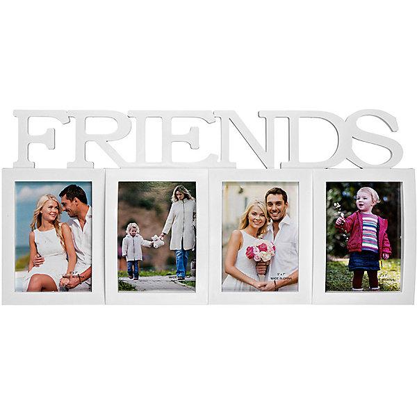 Фоторамка Platinum Friends, пластик, белая, Яркий праздникДетские предметы интерьера<br>Фоторамка Platinum Friends, пластик, белая, Яркий праздник<br><br>Характеристики:<br><br>• Состав: пластик<br>• Размер: 62 * 3 * 29 см.<br>• Размер фотографий: 13 * 18 см.<br>• Страна производитель: Китай<br><br>Изящная подвесная фоторамка включает в себя целых восемь рамок от компании, специализирующейся на производстве фоторамок для интерьеров Platinum (Платинум), и оживит сразу несколько воспоминаний! Фоторамки станут стильным украшением комнаты, а классический белый цвет отлично подойдет как для спальни, так и для кухни или гостиной. <br><br>Фоторамки расположены структурированно и отлично подойдут для серии вертикальных тематических снимков, а широкая надпись на английском языке «Друзья» отлично дополняет коллаж. Размер всех рамок 13 * 18 см, это увеличенный размер фотографий, поэтому на коллаже четче будут видны детали. Фоторамка станет превосходным подарком для любого важного события от годовщины до новоселья. Привнесите в дом атмосферу комфорта и яркого праздника вместе с новой фоторамкой!<br><br>Фоторамку Platinum Friends, пластик, белую, Яркий праздник можно купить в нашем интернет-магазине.<br>Ширина мм: 620; Глубина мм: 48; Высота мм: 290; Вес г: 360; Возраст от месяцев: 36; Возраст до месяцев: 2147483647; Пол: Унисекс; Возраст: Детский; SKU: 5454007;