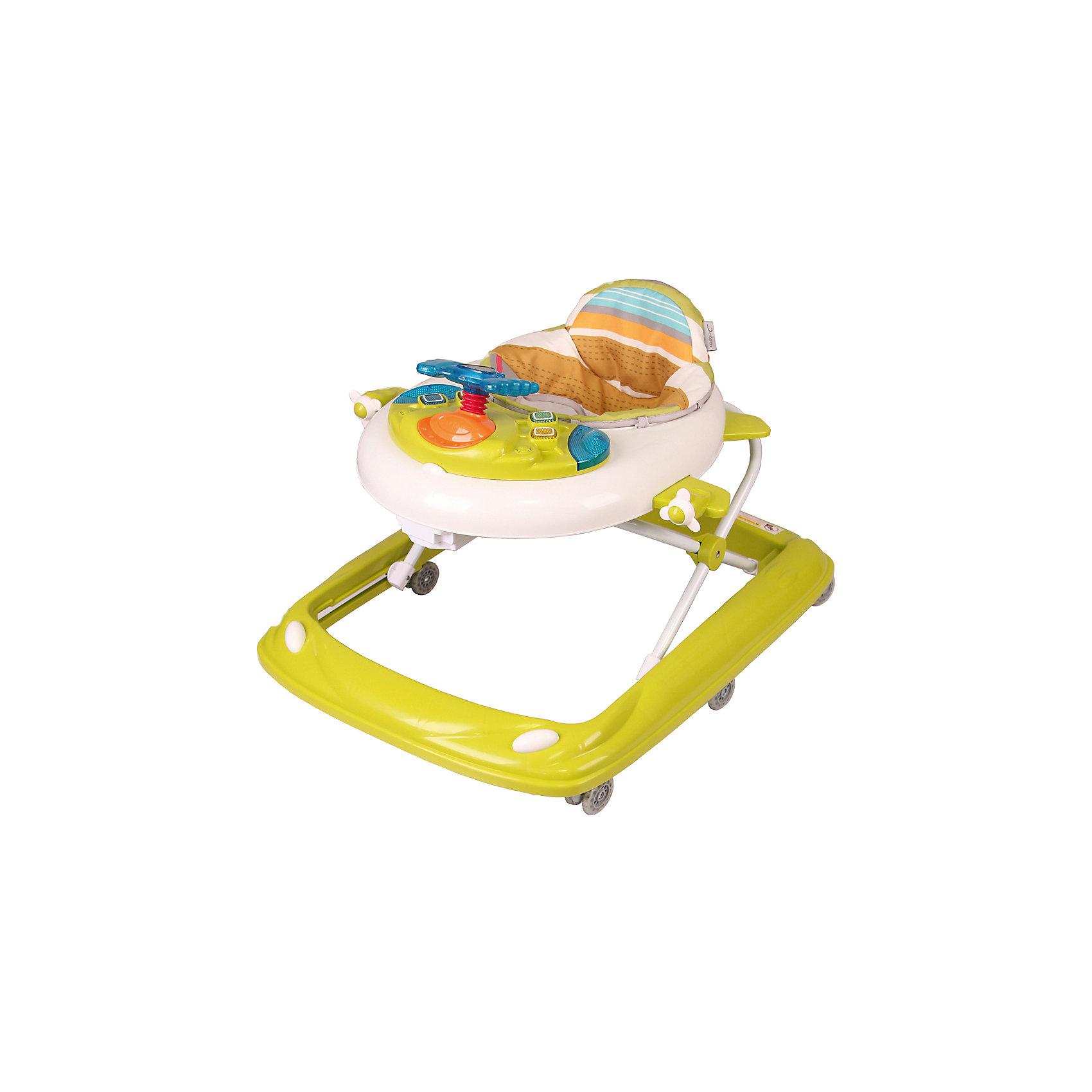 Ходунки Flyer, Jetem, SunshineХодунки<br>Характеристики товара:<br><br>• возраст от 6 месяцев;<br>• максимальная нагрузка: 12 кг<br>• материал: пластик, металл;<br>• регулировка по высоте в 3 положениях;<br>• съёмная игровая панель со световыми и звуковыми эффектами;<br>• 6 силиконовых колес;<br>• бампер с прорезиненной накладкой<br>• съёмный текстиль можно стирать<br>• размер ходунков 70х67х42 см;<br>• вес 4,3 кг;<br>• размер упаковки 72х59х11 см;<br>• вес упаковки 5 кг.<br><br>Ходунки Jetem Flyer учат малыша ходить самостоятельно и координировать движения. Съемная игровая панель со световыми и звуковыми эффектами способствует развитию мелкой моторики рук, тактильных ощущений, зрительного восприятия и музыкального слуха. Рама изготовлена из прочного металла. Благодаря широкому устойчивому основанию ходунки не опрокидываются. Колеса из силикона не повреждают напольное покрытие. Обивка сидения снимается и стирается при температуре 30 градусов. <br><br>Ходунки Jetem Flyer Sunshine можно приобрести в нашем интернет-магазине.<br><br>Ширина мм: 760<br>Глубина мм: 640<br>Высота мм: 130<br>Вес г: 5000<br>Возраст от месяцев: 0<br>Возраст до месяцев: 180<br>Пол: Унисекс<br>Возраст: Детский<br>SKU: 5454009