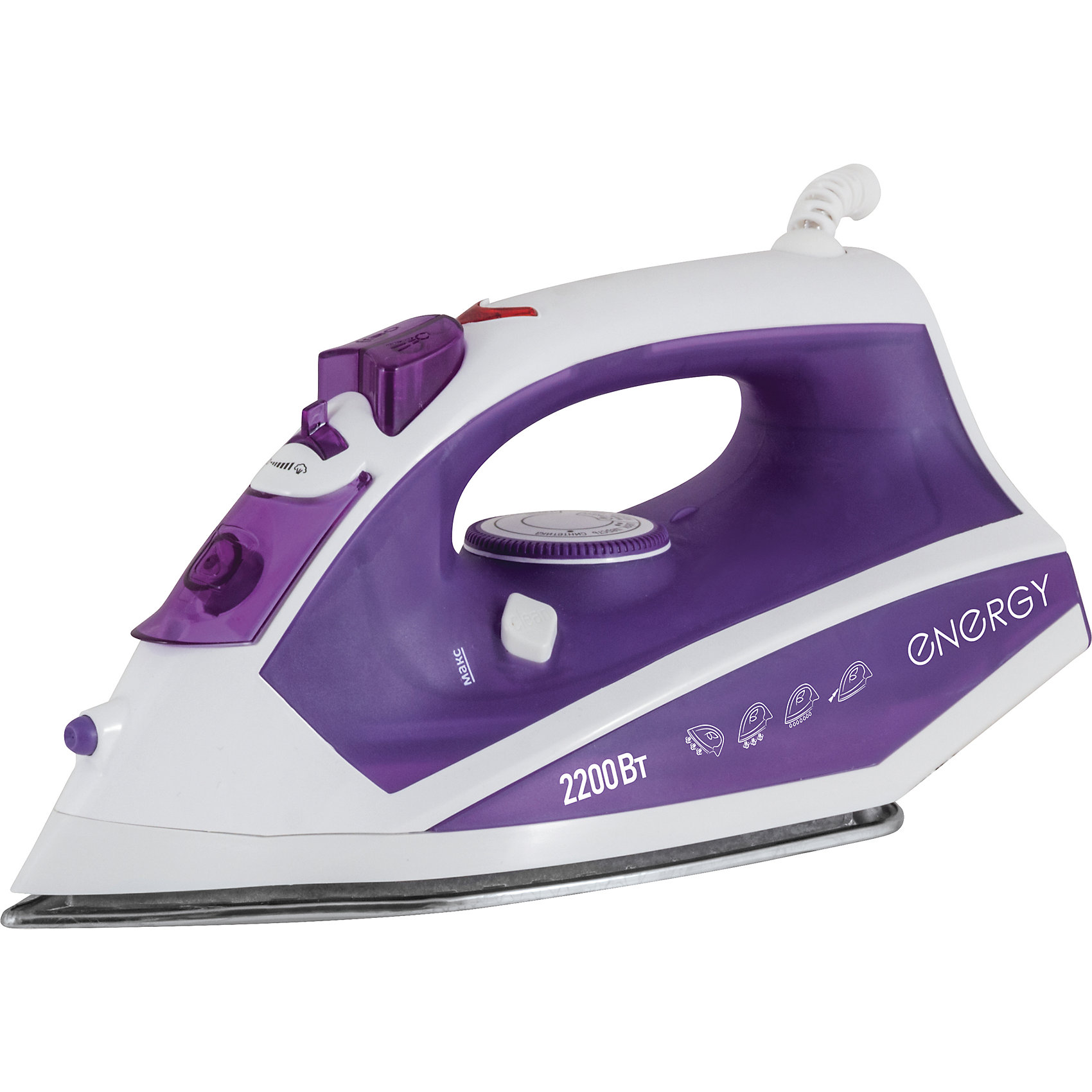 Утюг  EN-308,фиолетовый, ENERGYБытовая техника для кухни<br>Утюг EN-308,фиолетовый, ENERGY (Энерджи)<br><br>Характеристики:<br><br>• подошва из нержавеющей стали<br>• спрей<br>• пар<br>• вертикальный пар<br>• паровой удар<br>• мощность: 2200 Вт<br>• вес: 1,5 кг<br>• цвет: фиолетовый<br><br>С утюгом EN-308 вы всегда будете выглядеть аккуратно и опрятно. Подошва из нержавеющей стали хорошо скользит по ткани. Утюг оснащен всеми необходимыми функциями: пар, спрей, паровой удар и вертикальный пар. После глажки утюг можно оставить в вертикальном положении. Мощность - 2200 Вт.<br><br>Утюг EN-308,фиолетовый, ENERGY (Энерджи) можно купить в нашем интернет-магазине.<br><br>Ширина мм: 290<br>Глубина мм: 120<br>Высота мм: 150<br>Вес г: 1210<br>Возраст от месяцев: 216<br>Возраст до месяцев: 1188<br>Пол: Унисекс<br>Возраст: Детский<br>SKU: 5454030