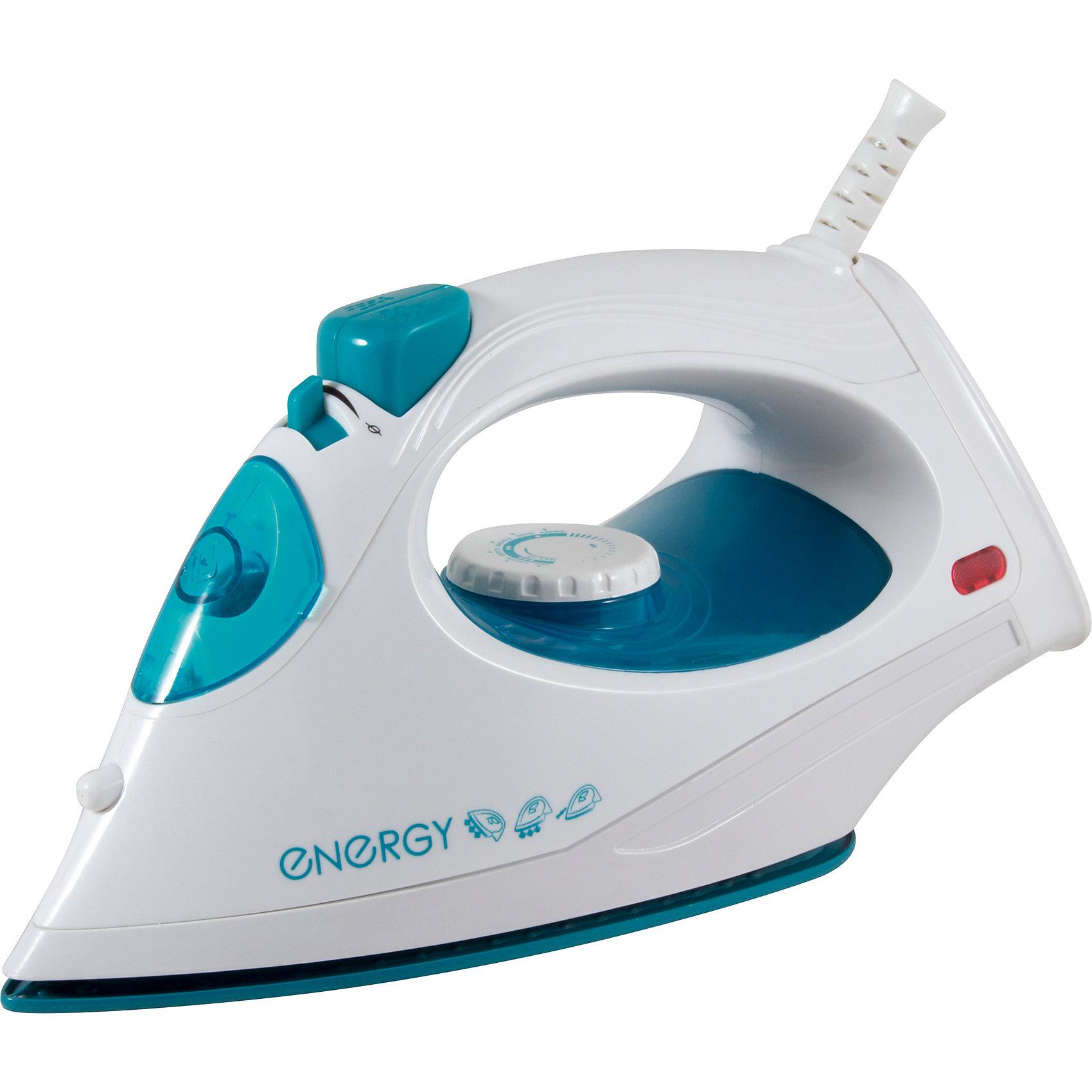 Утюг ENERGY EN-336, бирюзовый, ENERGYБытовая техника для кухни<br>Утюг ENERGY EN-336, бирюзовый, ENERGY (Энерджи)<br><br>Характеристики:<br><br>• тефлоновая подошва<br>• пар<br>• спрей<br>• вертикальное отпаривание<br>• паровой удар<br>• мощность: 1800 Вт<br>• цвет: бирюзовый<br><br>Утюг ENERGY EN-336 быстро и качественно выгладит ваши вещи, делая их красивыми и опрятными. Утюг имеет тефлоновую подошву, хорошо скользящую по ткани. Функция вертикального отпаривания поможет вам справиться с объемными вещами. Все необходимые функции : спрей, пар, паровой удар. Мощность - 1800Вт.<br><br>Утюг ENERGY EN-336, бирюзовый, ENERGY (Энерджи) можно купить в нашем интернет-магазине.<br><br>Ширина мм: 270<br>Глубина мм: 110<br>Высота мм: 150<br>Вес г: 967<br>Возраст от месяцев: 216<br>Возраст до месяцев: 1188<br>Пол: Унисекс<br>Возраст: Детский<br>SKU: 5454032