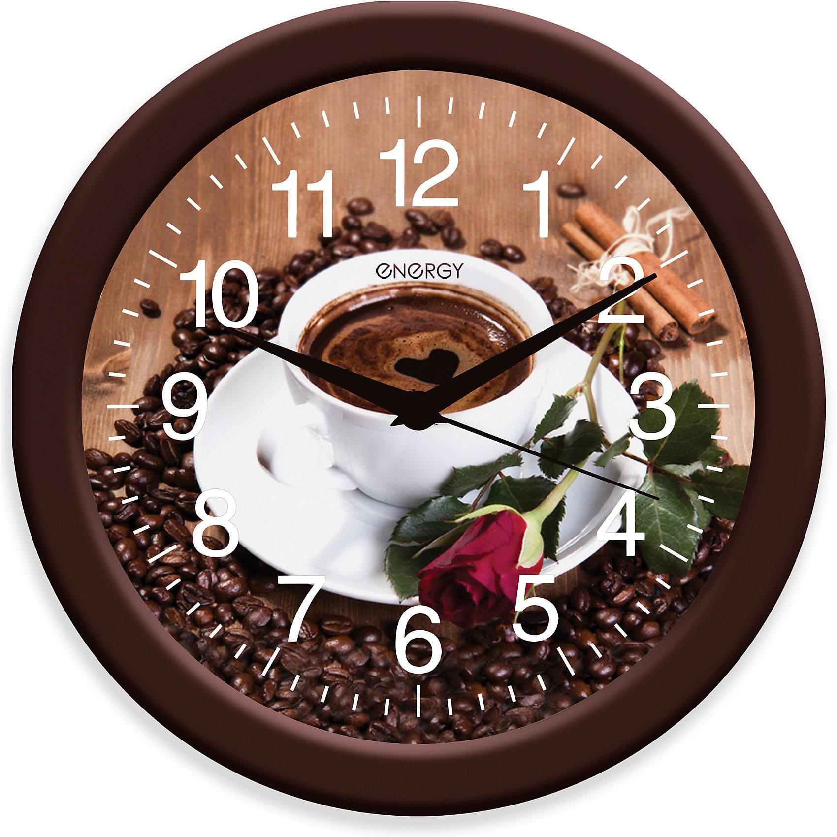 Часы настенныеКофе, ENERGYЧасы настенные кварцевые ENERGY модель ЕС-101 кофе<br><br>Ширина мм: 280<br>Глубина мм: 280<br>Высота мм: 40<br>Вес г: 562<br>Возраст от месяцев: 216<br>Возраст до месяцев: 1188<br>Пол: Унисекс<br>Возраст: Детский<br>SKU: 5454037