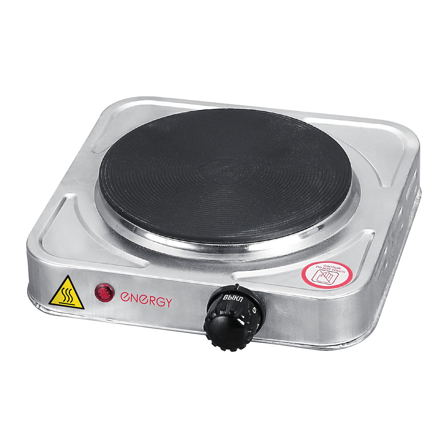 Электроплитка EN-906S, ENERGY, чугун, нержавеющая стальБытовая техника для кухни<br>Электроплитка ENERGY (Энерджи) EN-906S, чугун, нержавеющая сталь<br><br>Характеристики:<br><br>• конфорка из чугуна<br>• световой индикатор<br>• защита от перегрева<br>• корпус из нержавеющей стали<br>• размер конфорки: 15,5 см<br>• материал: металл, пластик<br>• мощность: 1000 Вт<br><br>Электрическая плитка EN-906S очень компактна и удобна в применении. Конфорка изготовлена из чугуна, а корпус из нержавеющей стали. Электроплитка быстро нагревается, имеет защиту от перегрева и световой индикатор работы. Размер конфорки - 15,5 см. Мощность - 1000Вт.<br><br>Электроплитку EN-906S, ENERGY (Энерджи), чугун, нержавеющая сталь вы можете купить в нашем интернет-магазине.<br><br>Ширина мм: 230<br>Глубина мм: 270<br>Высота мм: 80<br>Вес г: 1388<br>Возраст от месяцев: 216<br>Возраст до месяцев: 1188<br>Пол: Унисекс<br>Возраст: Детский<br>SKU: 5454041