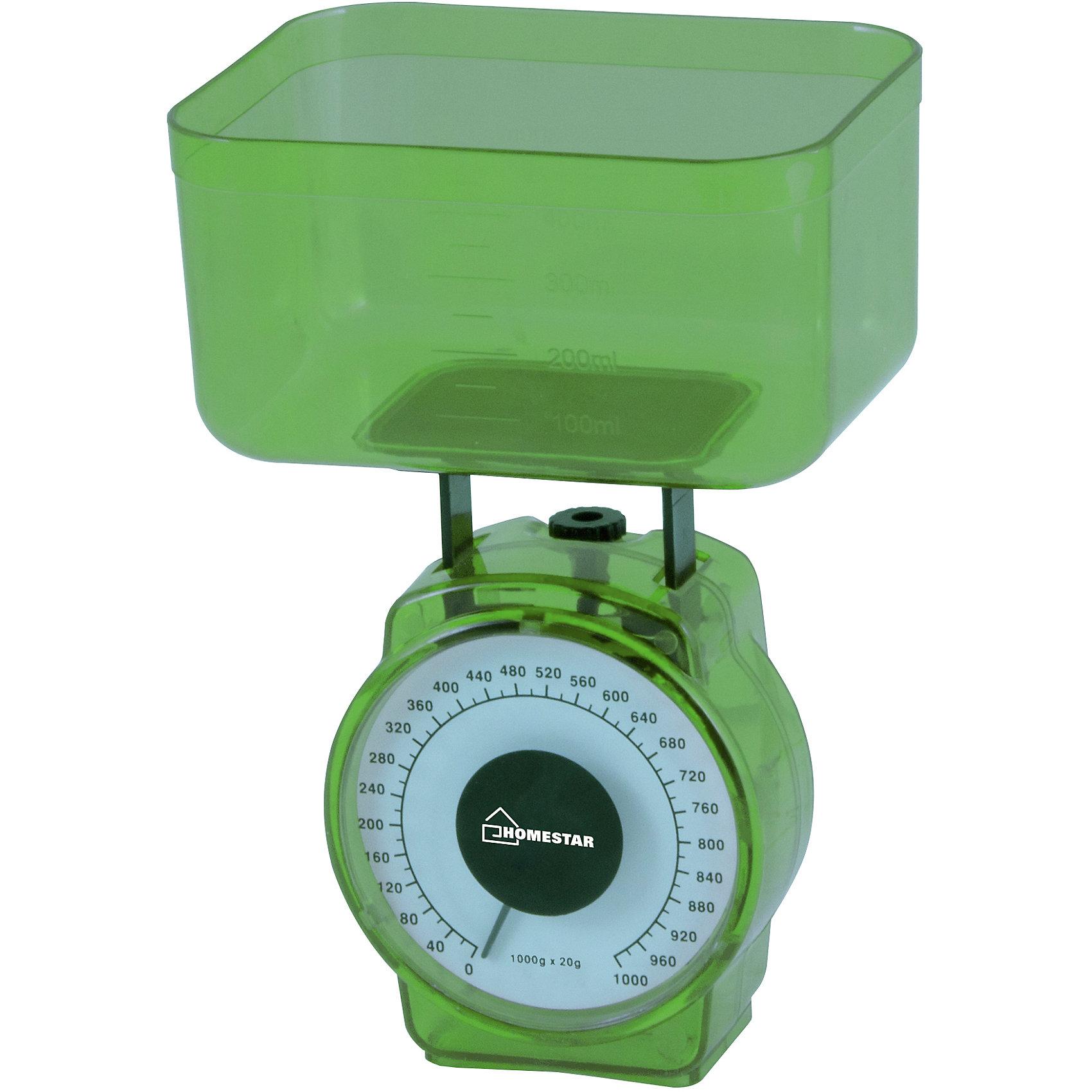 Весы кухонные механические  HS-3004М, HOMESTAR, зеленыйБытовая техника для кухни<br>Весы кухонные механические HS-3004М, HOMESTAR (ХоумСтар), зеленый<br><br>Характеристики:<br><br>• точное измерение веса продуктов<br>• цена деления: 20 грамм<br>• объем чаши: 400 мл<br>• максимальная нагрузка: 1 кг<br>• материал: металл, пластик<br>• цвет: зеленый<br><br>Для приготовления вкусных блюд вам может понадобиться измерение вес необходимых ингредиентов. Механические вес HS-3004M точно измерят вес продуктов. Цена одного деления - 20 грамм. Чаша объемом 400 мл снимается и легко очищается от загрязнений. Максимальная нагрузка составляет 1 килограмм. Весы HS-3004M - лучший помощник для хозяек.<br><br>Весы кухонные механические HS-3004М, HOMESTAR (ХоумСтар), зеленый вы можете купить в нашем интернет-магазине.<br><br>Ширина мм: 100<br>Глубина мм: 70<br>Высота мм: 120<br>Вес г: 156<br>Возраст от месяцев: 216<br>Возраст до месяцев: 1188<br>Пол: Унисекс<br>Возраст: Детский<br>SKU: 5454043