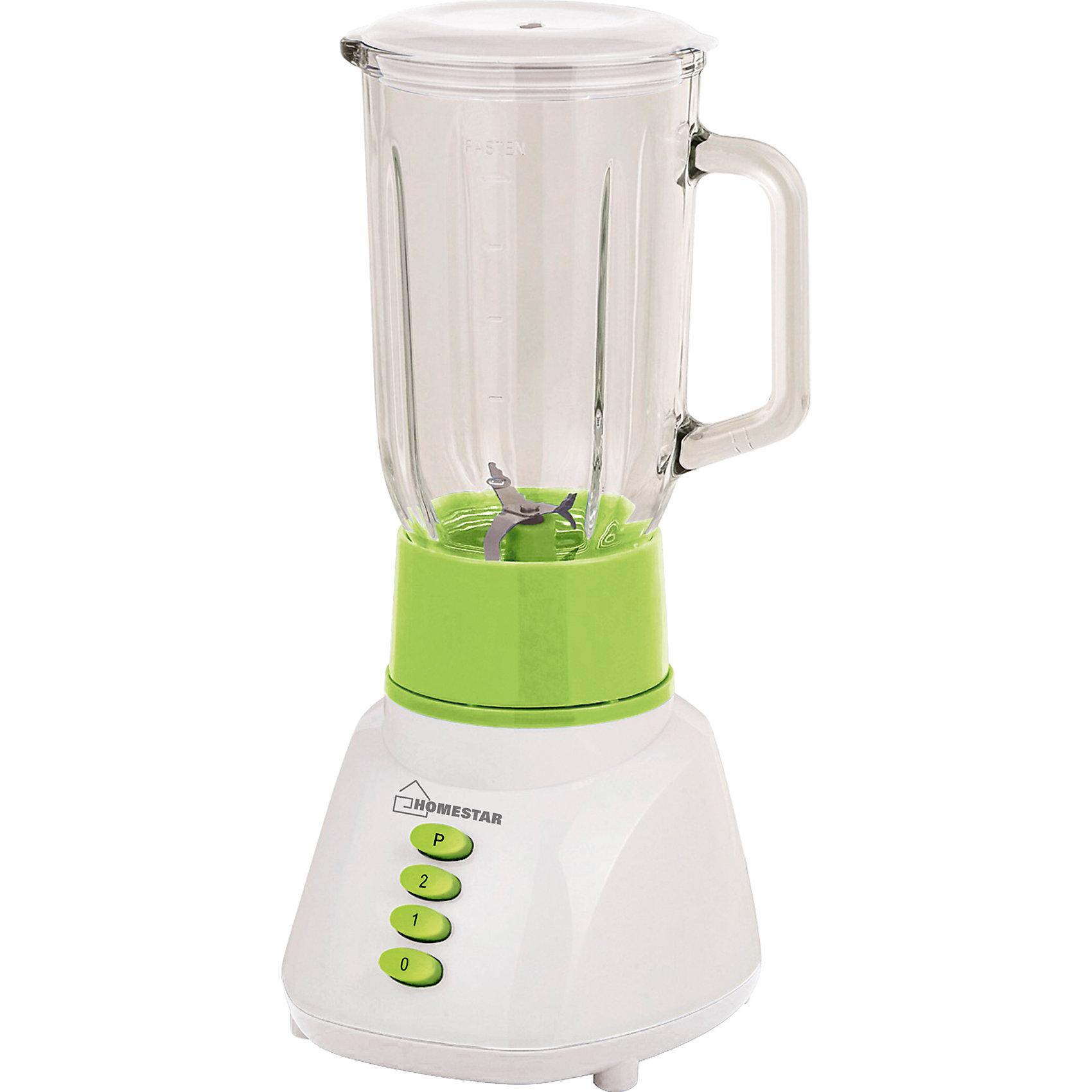 Блендер HS-2011, со стеклянной чашей, HOMESTARБлендер HS-2011, со стеклянной чашей, HOMESTAR (ХоумСтар)<br><br>Характеристики:<br><br>• подходит для любых продуктов и льда<br>• ножи из нержавеющей стали<br>• стеклянная чаша<br>• две скорости работы<br>• импульсный режим<br>• объем чаши: 1 л<br>• мощность: 300 Вт<br><br>Блендер HS-2011 быстро измельчит любые продукты до необходимой консистенции. Ножи из нержавеющей стали подходят и для измельчения льда. Чаша блендера объемом 1 литр изготовлена из прочного стекла. Блендер имеет две скорости работы и импульсный режим. Блендер HS-2011 станет незаменимым помощником для каждой хозяйки!<br><br>Блендер HS-2011, со стеклянной чашей, HOMESTAR (ХоумСтар) вы можете купить в нашем интернет-магазине.<br><br>Ширина мм: 200<br>Глубина мм: 170<br>Высота мм: 380<br>Вес г: 2505<br>Возраст от месяцев: 216<br>Возраст до месяцев: 1188<br>Пол: Унисекс<br>Возраст: Детский<br>SKU: 5454049