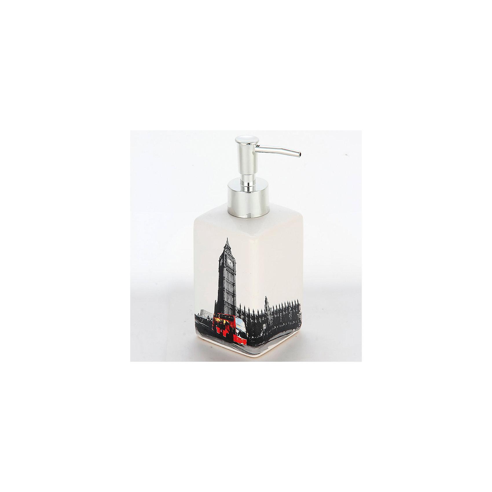 Дозатор для жидкого мыла Лондон DIS-L, Рыжий котВанная комната<br>Дозатор для жидкого мыла Лондон DIS-L, Рыжий кот<br><br>Характеристики:<br><br>• приятный дизайн<br>• удобный дозатор<br>• материал: керамика<br>• объем: 250 мл<br>• размер: 6,6х6,6х17 см<br><br>Дозатор Лондон изготовлен из керамики с изображением в стиле Лондона. Дозатор имеет удобную форму и очень прост в применении. Объем дозатора составляет 250 мл. Дозатор Лондон займет достойное место в вашей ванной комнате!<br><br>Дозатор для жидкого мыла Лондон DIS-L, Рыжий кот можно купить в нашем интернет-магазине.<br><br>Ширина мм: 90<br>Глубина мм: 100<br>Высота мм: 190<br>Вес г: 292<br>Возраст от месяцев: 12<br>Возраст до месяцев: 216<br>Пол: Унисекс<br>Возраст: Детский<br>SKU: 5454078