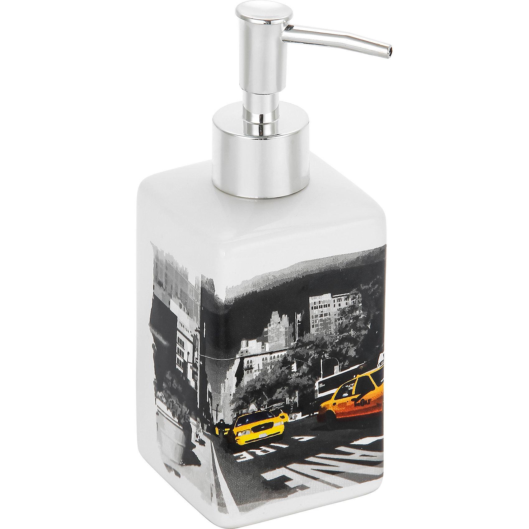 Дозатор для жидкого мыла Нью-Йорк DIS-NY, Рыжий котДозатор для жидкого мыла Нью-Йорк DIS-NY, Рыжий кот<br><br>Характеристики:<br><br>• приятный дизайн<br>• удобный дозатор<br>• материал: керамика<br>• объем: 250 мл<br>• размер: 6,6х6,6х17 см<br><br>Дозатор Нью-Йорк изготовлен из керамики с изображением улицы Нью-Йорка. Дозатор имеет удобную форму и очень прост в применении. Объем дозатора составляет 250 мл. Дозатор Нью-Йорк займет достойное место в вашей ванной комнате!<br><br>Дозатор для жидкого мыла Нью-Йорк DIS-NY, Рыжий кот вы можете купить в нашем интернет-магазине.<br><br>Ширина мм: 80<br>Глубина мм: 80<br>Высота мм: 180<br>Вес г: 293<br>Возраст от месяцев: 12<br>Возраст до месяцев: 216<br>Пол: Унисекс<br>Возраст: Детский<br>SKU: 5454082