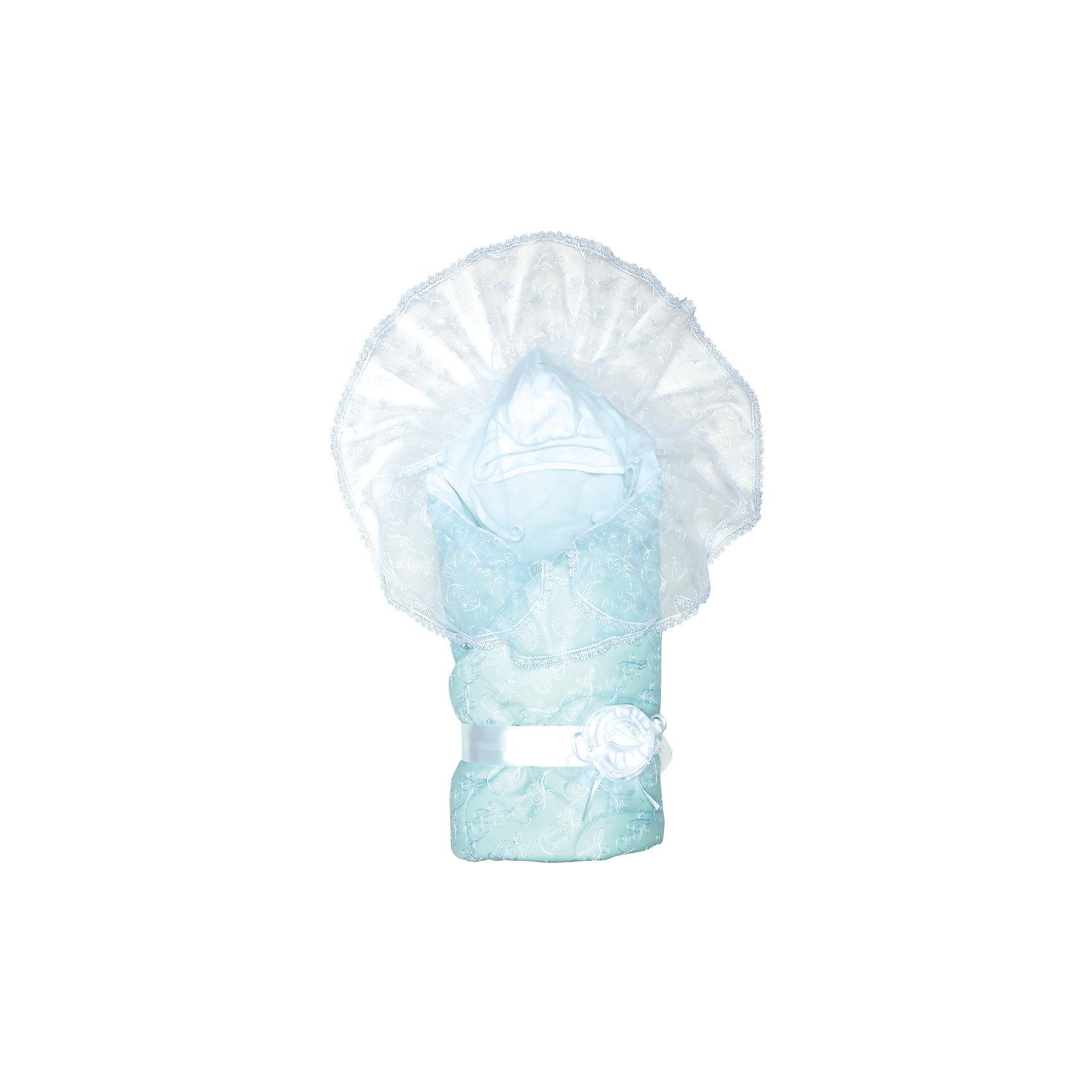Комплект на выписку Диамант, 1715/1, Сонный Гномик, голубойКонверты на выписку<br>Комплектация: Одеяло стеганое кашемир (наполнитель 60% кашемир, 40% пэ 200г/кв.м.), пододеяльник кружевной с вуалью и кружевом (100% ПЭ), сменный пододеяльник из сатина (100% хлопок), утепленная шапочка с кружевной отделкой (100% хлопок, наполнитель 100% ПЭ, 100г/кв.м), пояс на резинке (100% ПЭ)<br>Размер, см: 105х105<br>Температурный режим, °С: От 10 до -10<br>Сезонность: Зима, весна, осень<br><br>Ширина мм: 45<br>Глубина мм: 10<br>Высота мм: 60<br>Вес г: 700<br>Возраст от месяцев: 0<br>Возраст до месяцев: 36<br>Пол: Унисекс<br>Возраст: Детский<br>SKU: 5454110