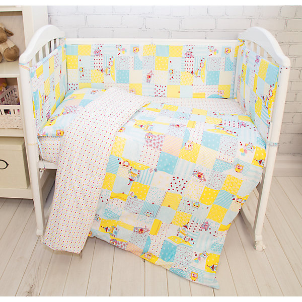 Комплект постельного белья Совы Baby Nice, голубые