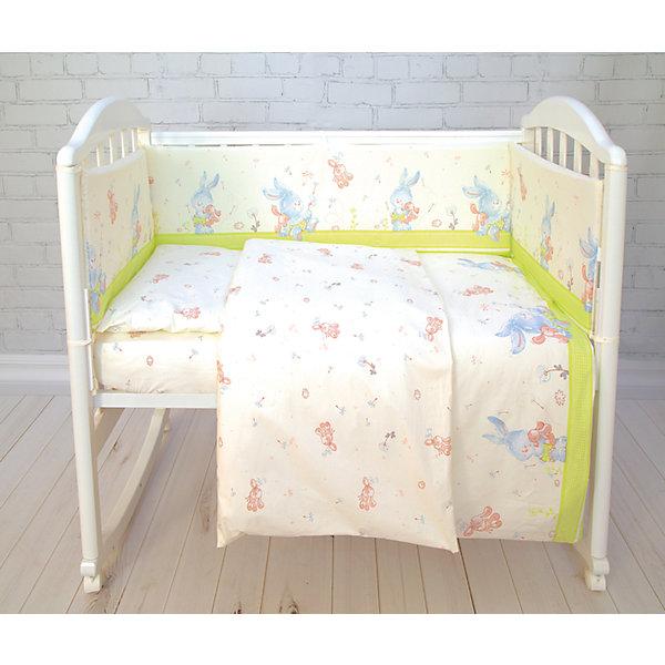 Комплект постельного белья элит Зайка Baby Nice, салатовый