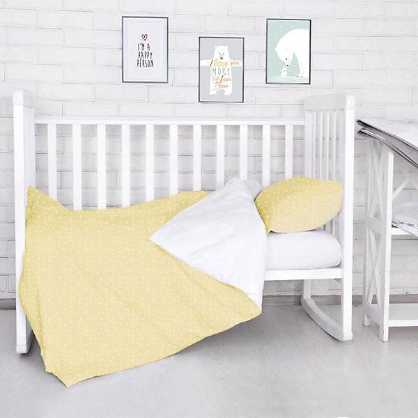 Комплект постельного белья Луны, звездочки Baby Nice, бежевый
