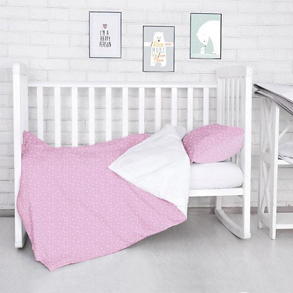 Комплект постельного белья Луны, звездочки Baby Nice, розовый